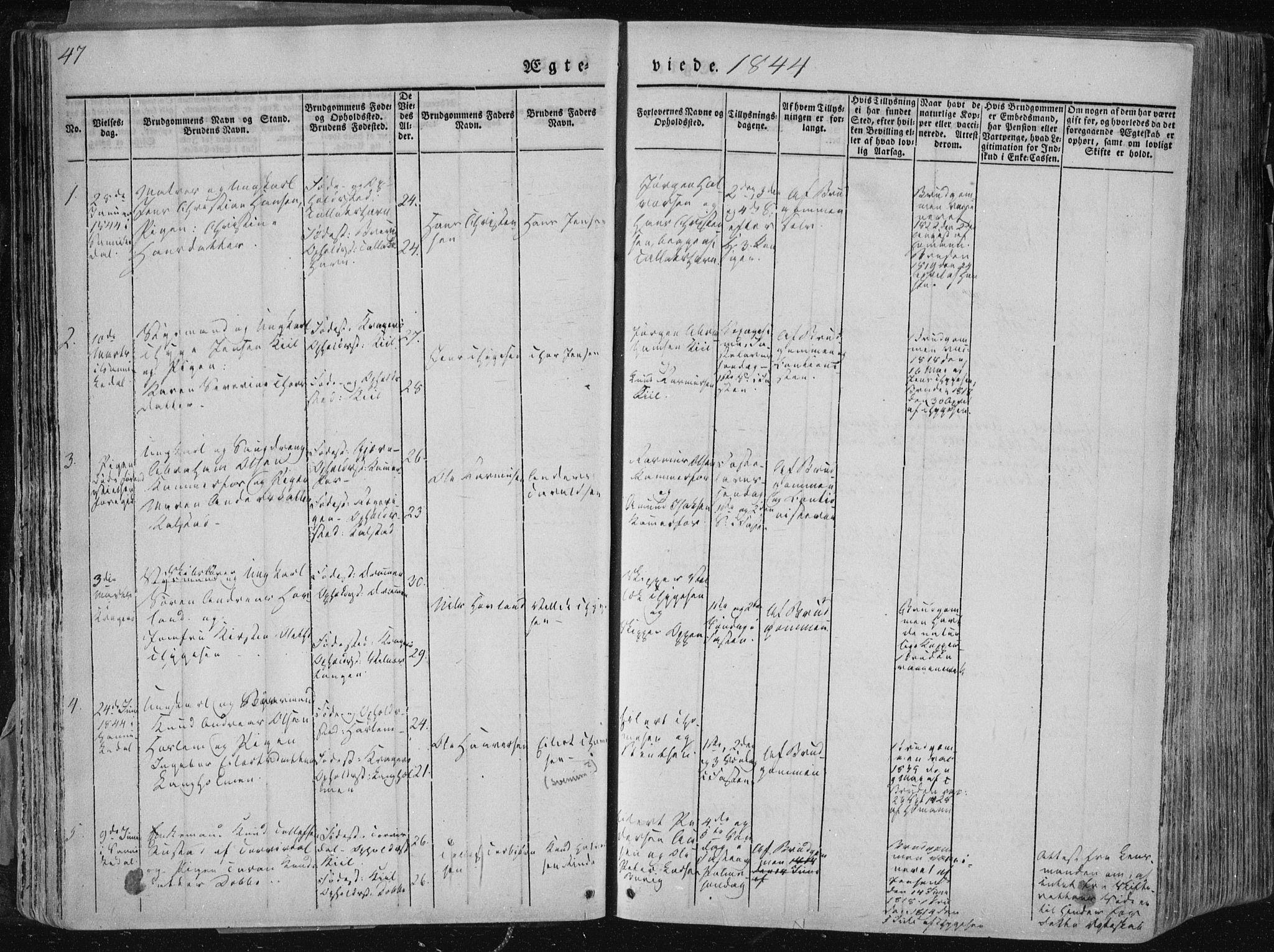 SAKO, Sannidal kirkebøker, F/Fa/L0007: Ministerialbok nr. 7, 1831-1854, s. 47