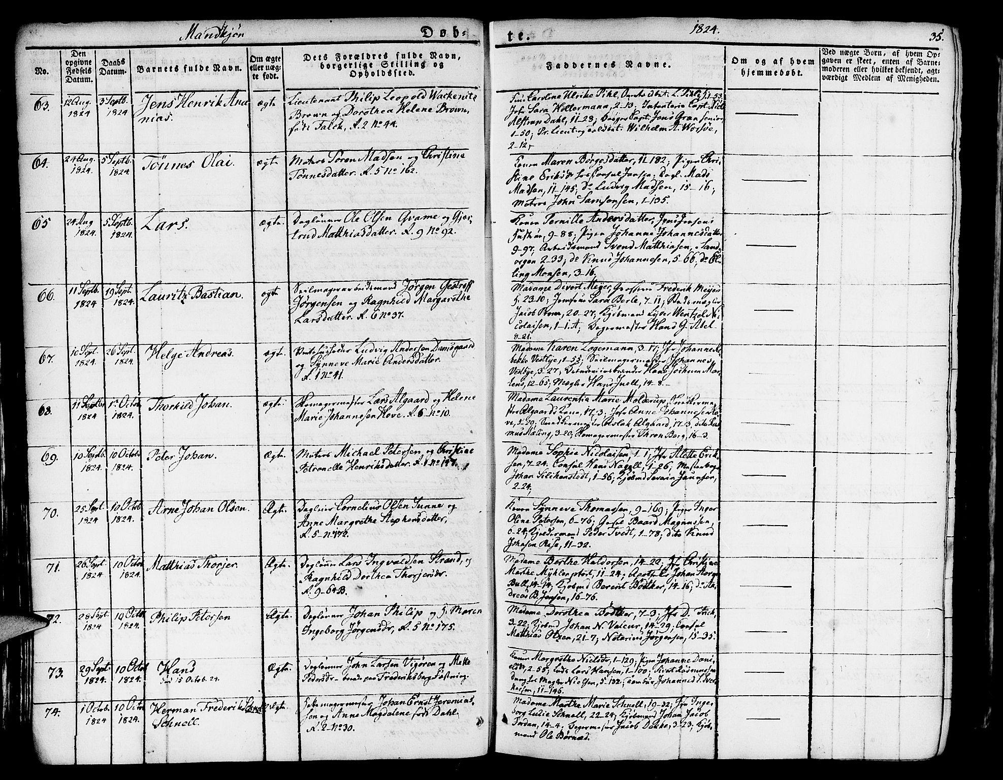 SAB, Nykirken Sokneprestembete, H/Haa: Ministerialbok nr. A 12, 1821-1844, s. 35