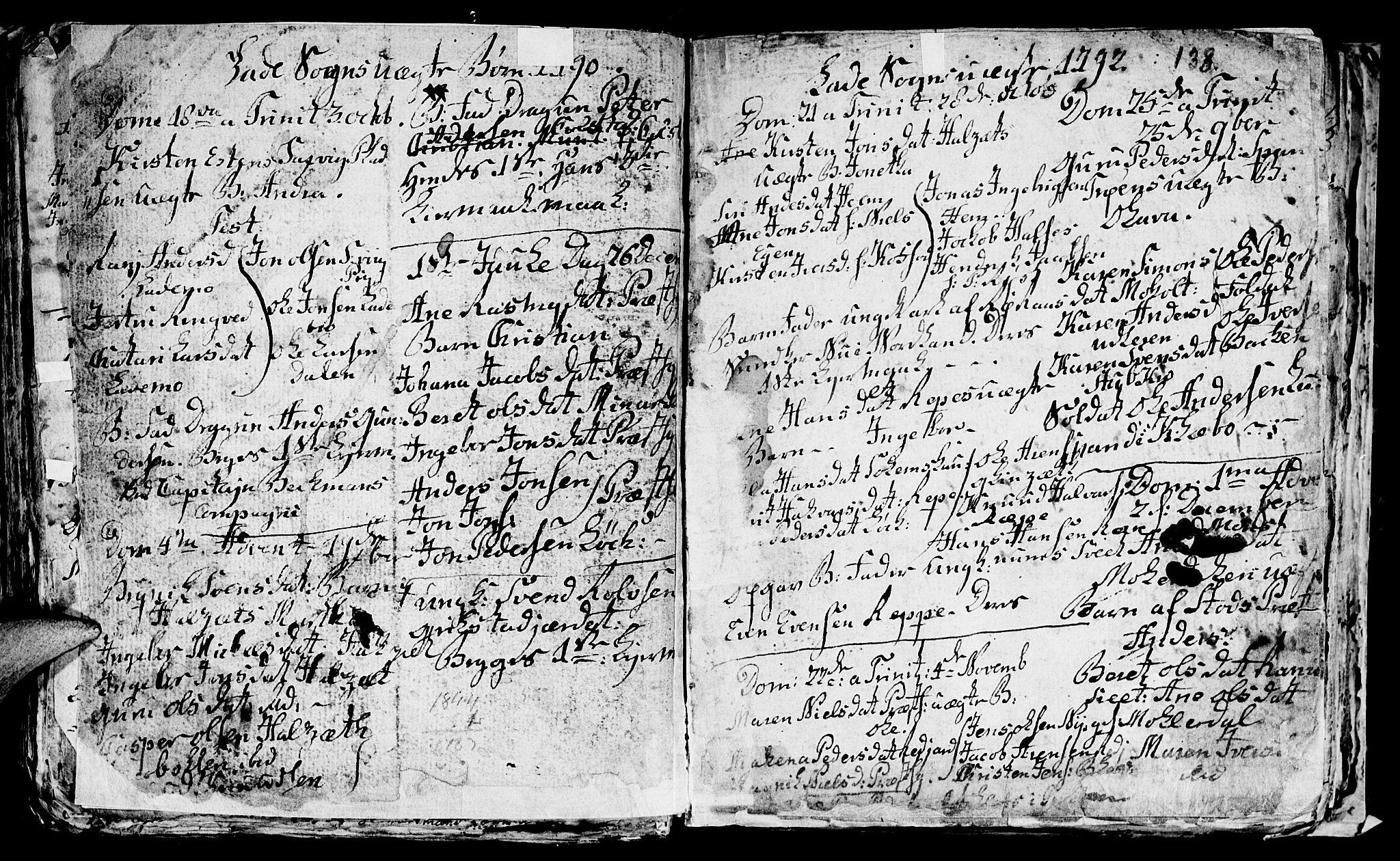 SAT, Ministerialprotokoller, klokkerbøker og fødselsregistre - Sør-Trøndelag, 606/L0305: Klokkerbok nr. 606C01, 1757-1819, s. 138