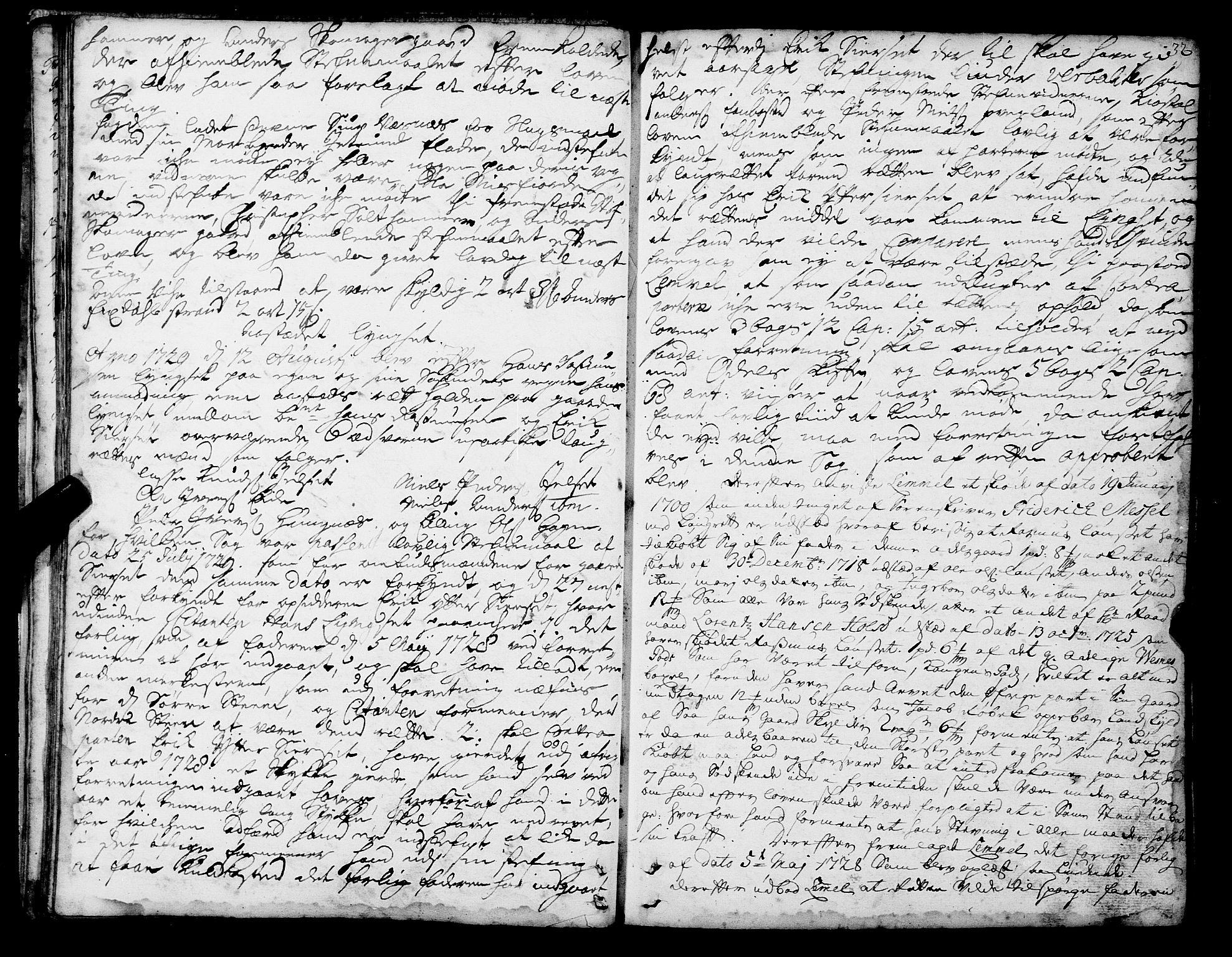 SAT, Romsdal sorenskriveri, 1/1A/L0010: Tingbok, 1728-1732, s. 32