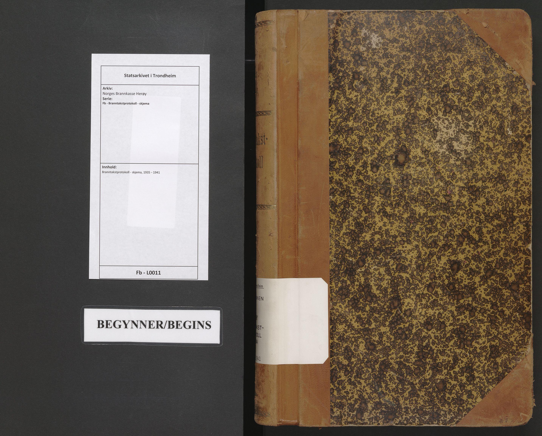 SAT, Norges Brannkasse Herøy, Fb/L0011: Branntakstprotokoll - skjema, 1935-1941