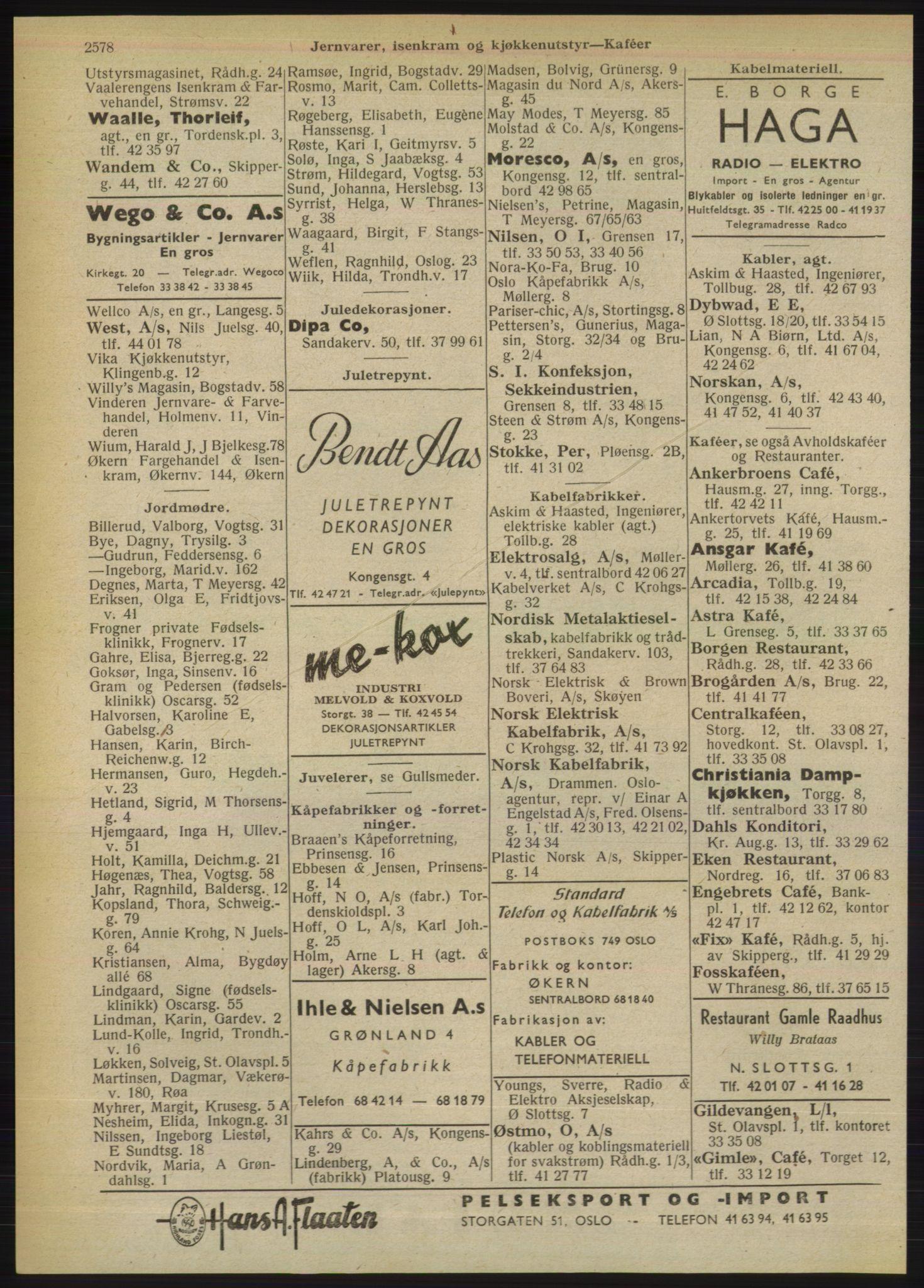 PUBL, Kristiania/Oslo adressebok, 1949, s. 2578