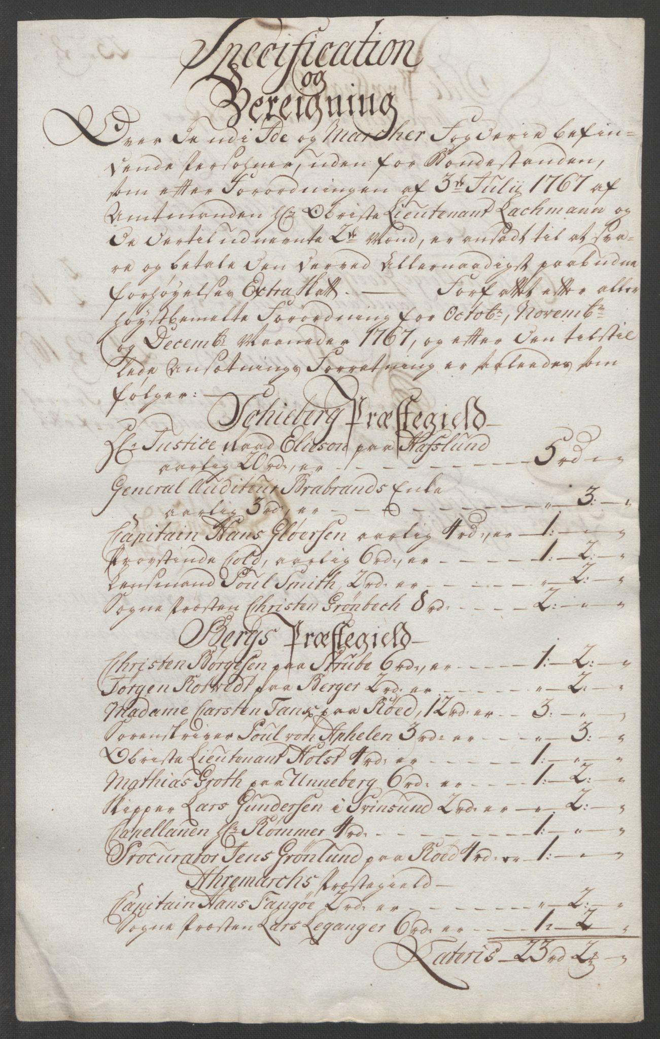 RA, Rentekammeret inntil 1814, Reviderte regnskaper, Fogderegnskap, R01/L0097: Ekstraskatten Idd og Marker, 1756-1767, s. 329