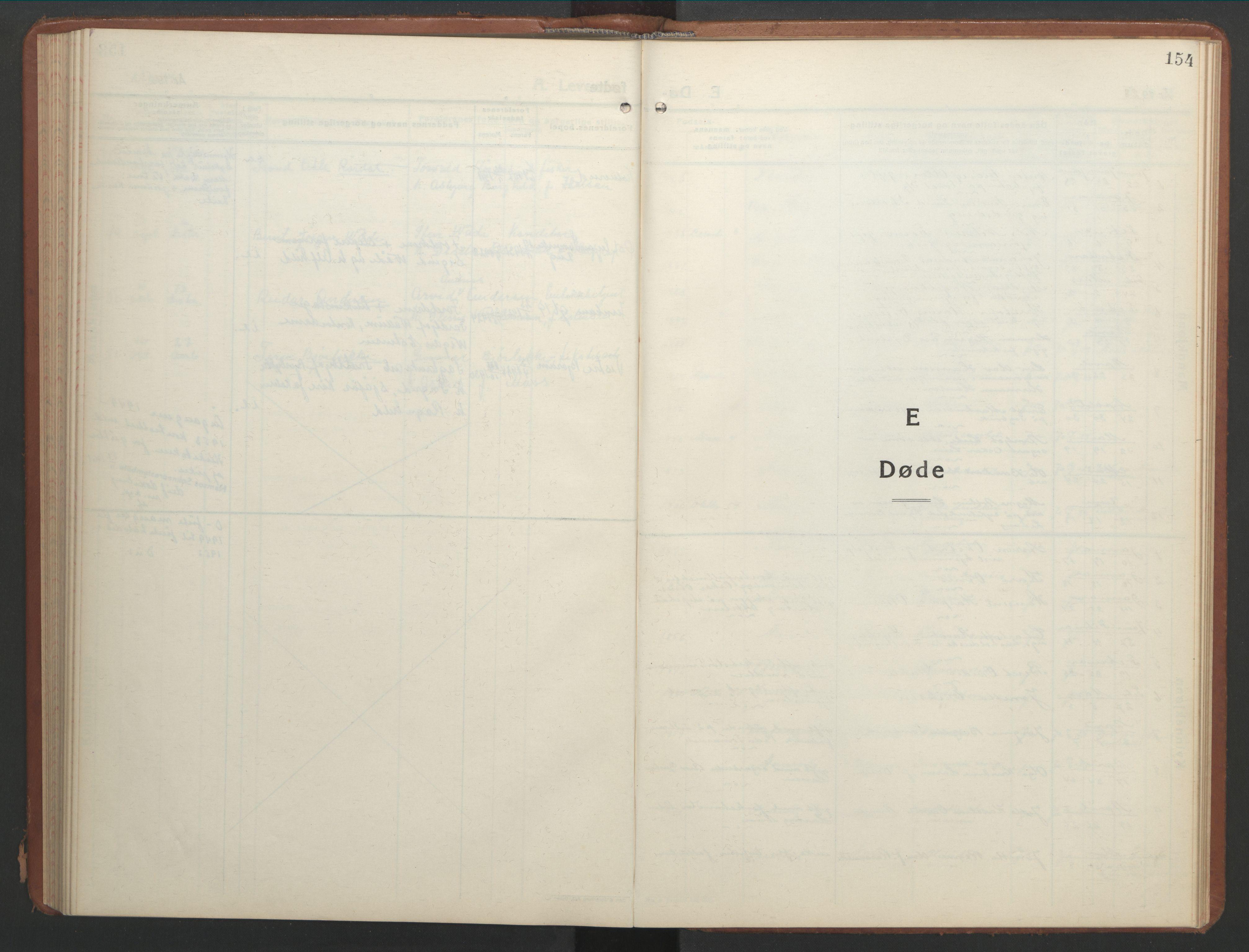 SAT, Ministerialprotokoller, klokkerbøker og fødselsregistre - Nord-Trøndelag, 768/L0583: Klokkerbok nr. 768C01, 1928-1953, s. 154