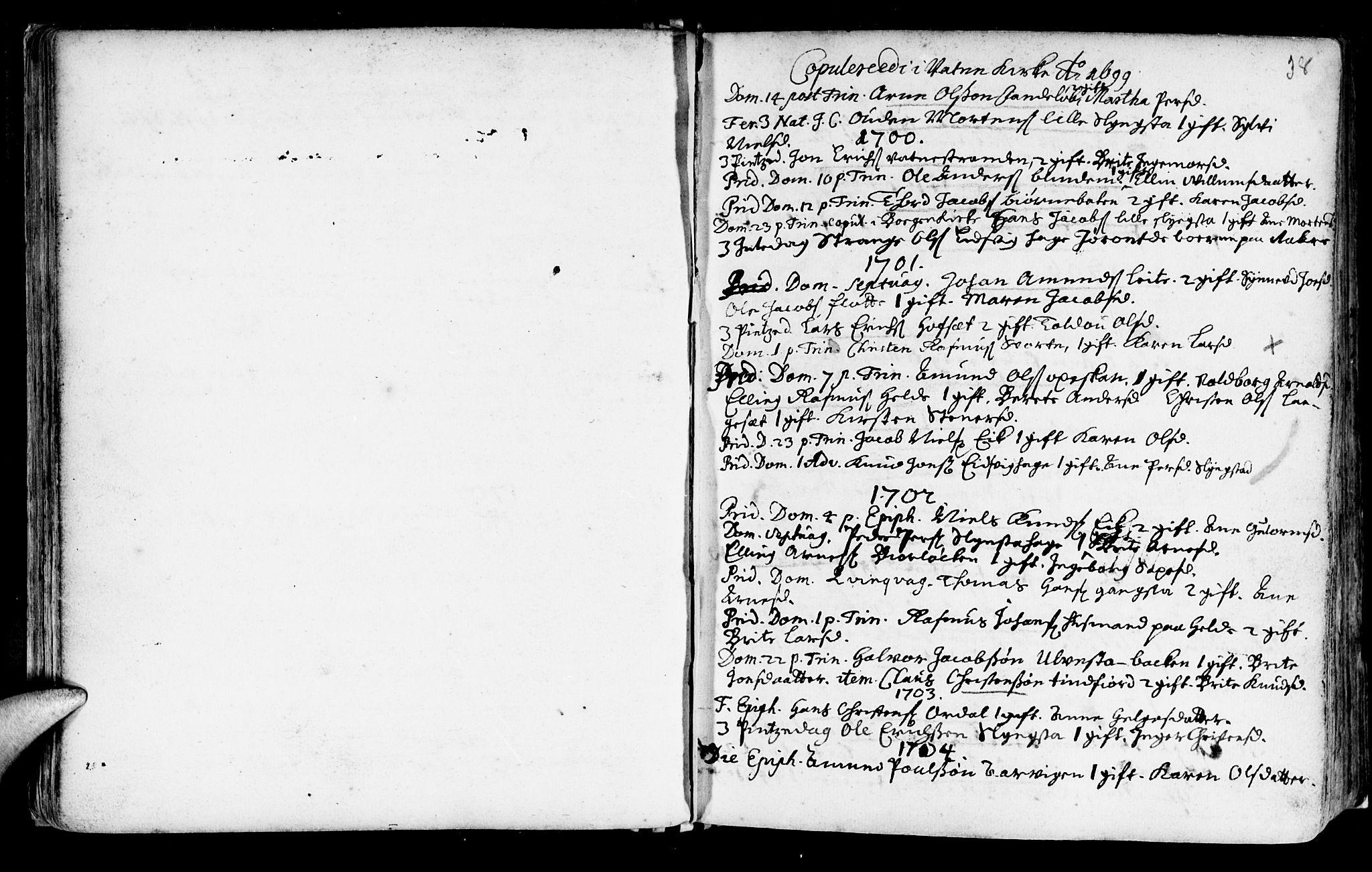 SAT, Ministerialprotokoller, klokkerbøker og fødselsregistre - Møre og Romsdal, 525/L0371: Ministerialbok nr. 525A01, 1699-1777, s. 37