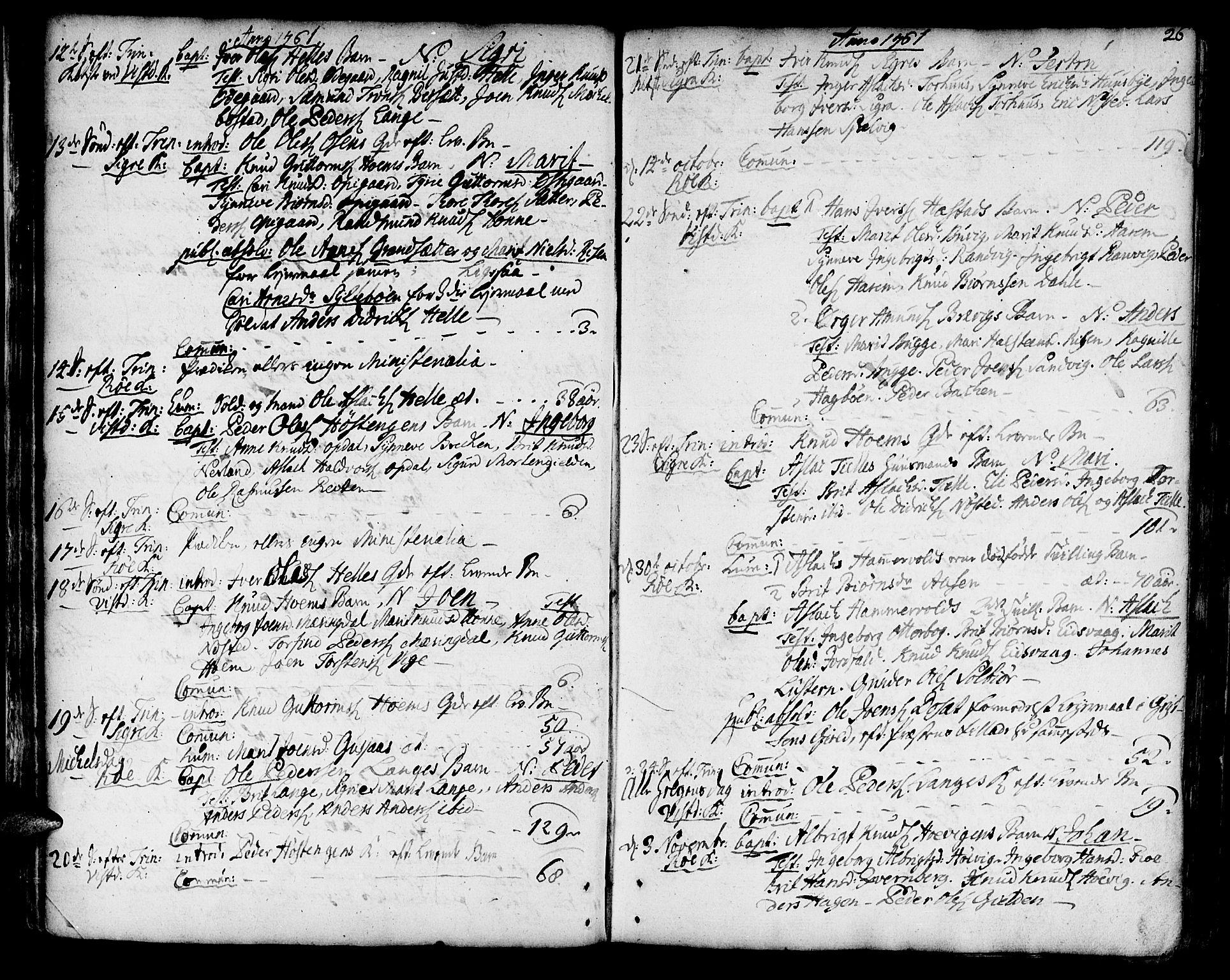 SAT, Ministerialprotokoller, klokkerbøker og fødselsregistre - Møre og Romsdal, 551/L0621: Ministerialbok nr. 551A01, 1757-1803, s. 26