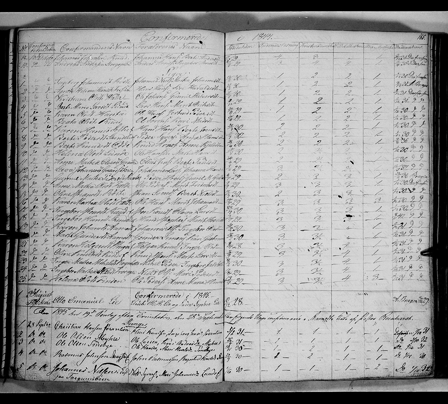 SAH, Land prestekontor, Klokkerbok nr. 2, 1833-1849, s. 155