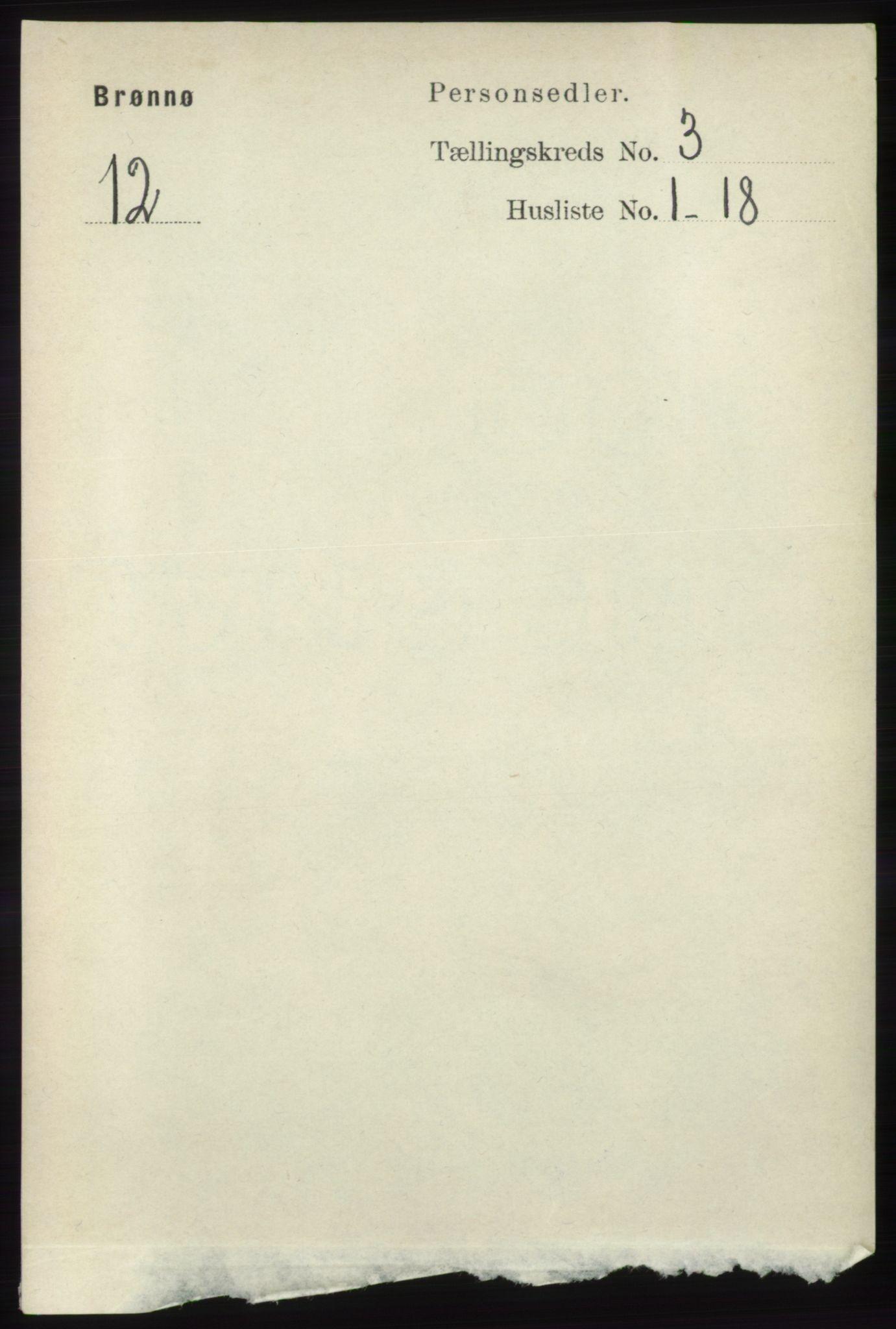 RA, Folketelling 1891 for 1814 Brønnøy herred, 1891, s. 1288