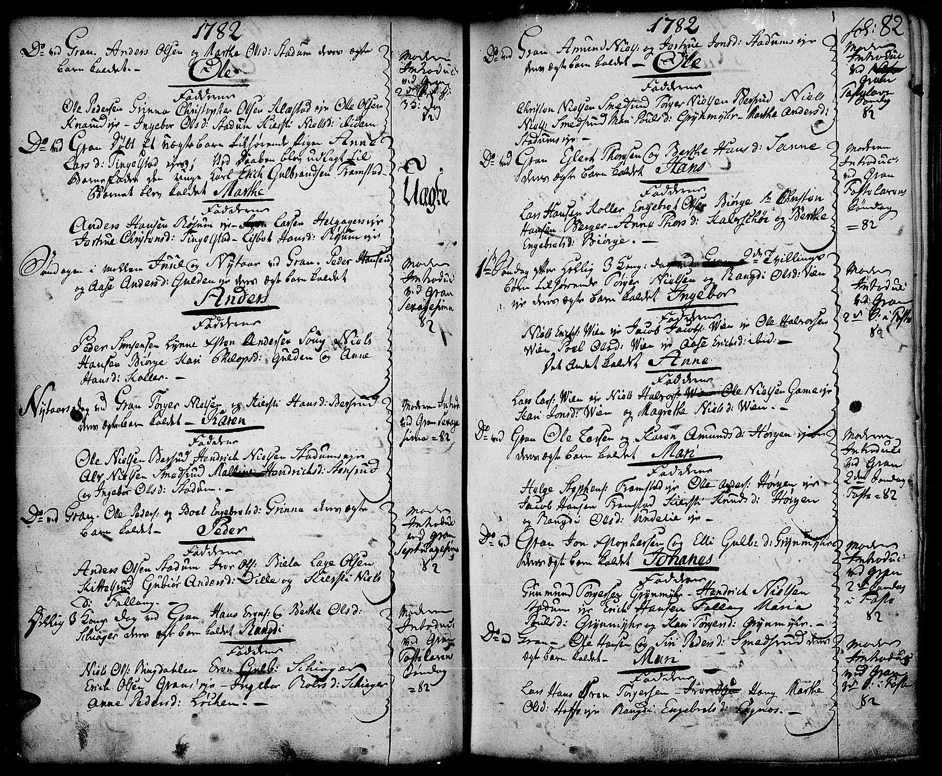 SAH, Gran prestekontor, Ministerialbok nr. 5, 1776-1788, s. 82