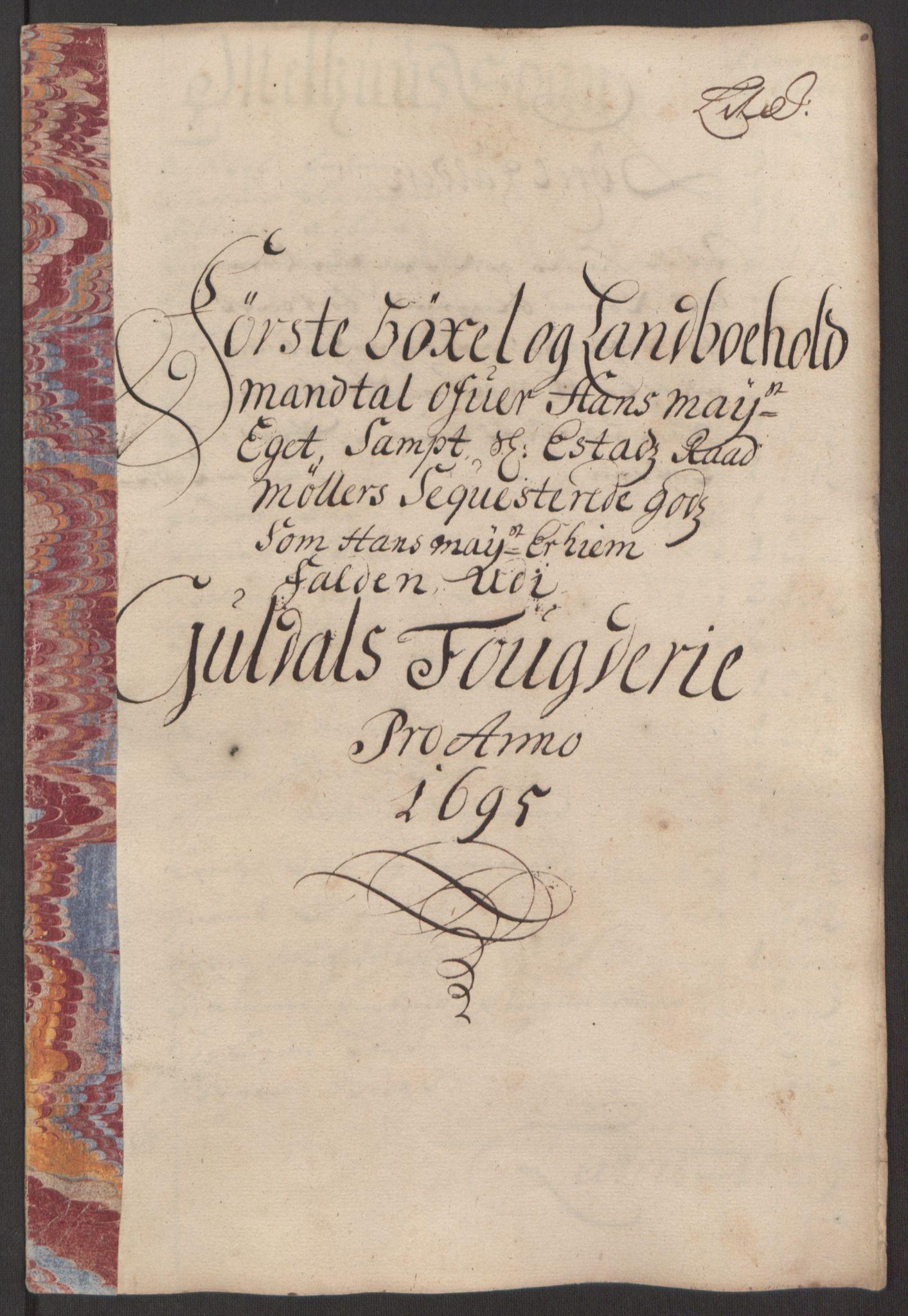 RA, Rentekammeret inntil 1814, Reviderte regnskaper, Fogderegnskap, R60/L3945: Fogderegnskap Orkdal og Gauldal, 1695, s. 371
