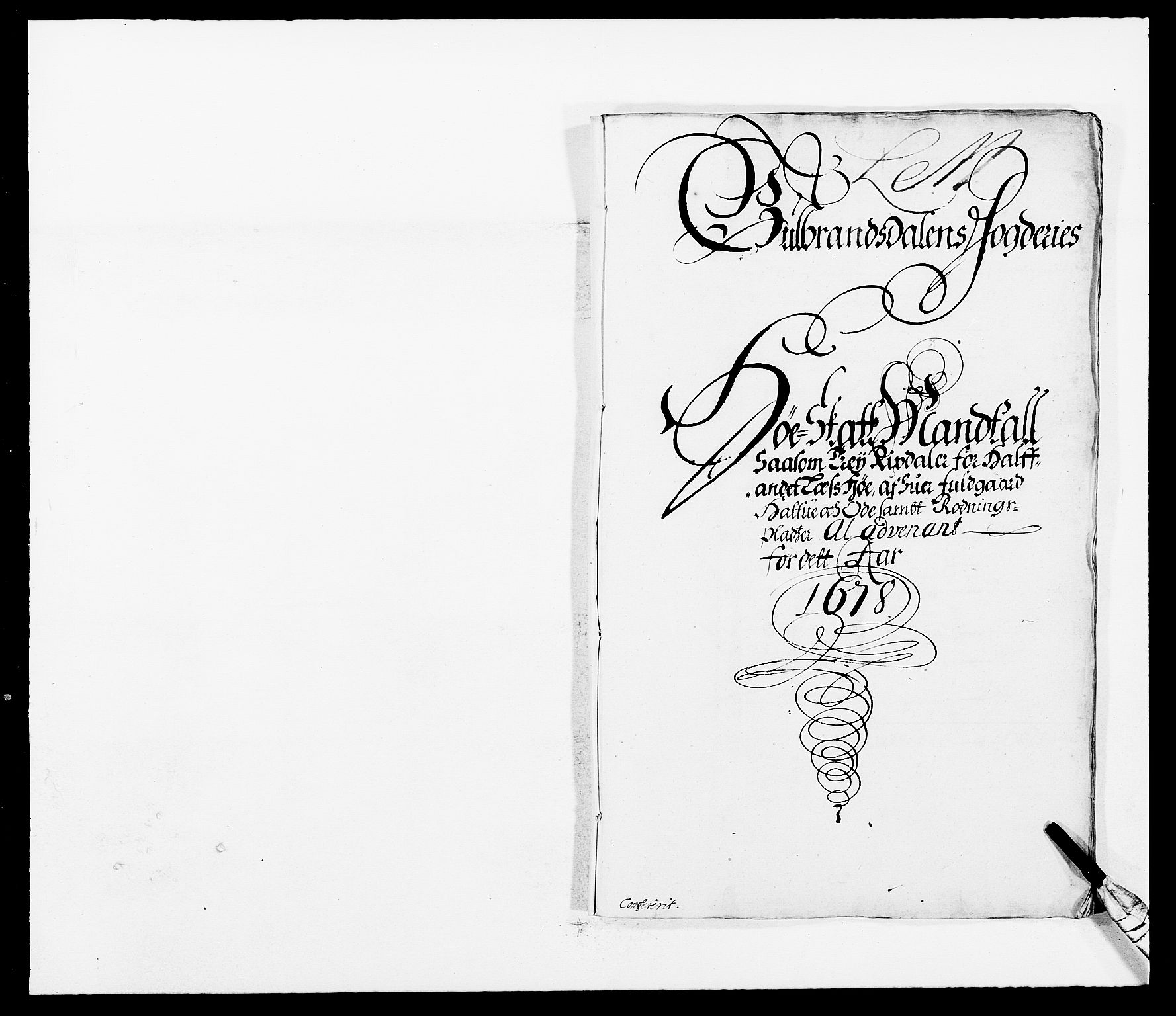 RA, Rentekammeret inntil 1814, Reviderte regnskaper, Fogderegnskap, R17/L1152: Fogderegnskap Gudbrandsdal, 1678-1679, s. 413