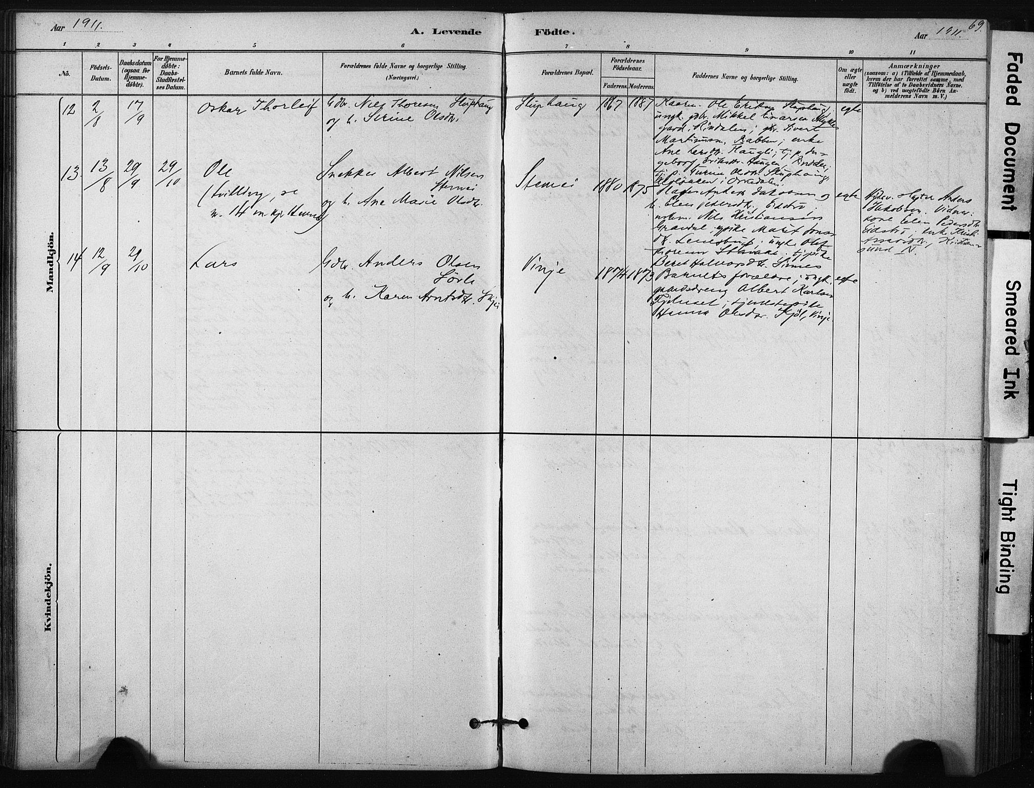 SAT, Ministerialprotokoller, klokkerbøker og fødselsregistre - Sør-Trøndelag, 631/L0512: Ministerialbok nr. 631A01, 1879-1912, s. 69