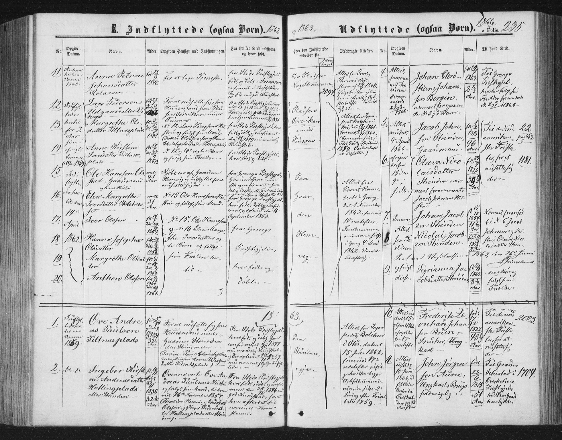 SAT, Ministerialprotokoller, klokkerbøker og fødselsregistre - Nord-Trøndelag, 749/L0472: Ministerialbok nr. 749A06, 1857-1873, s. 235