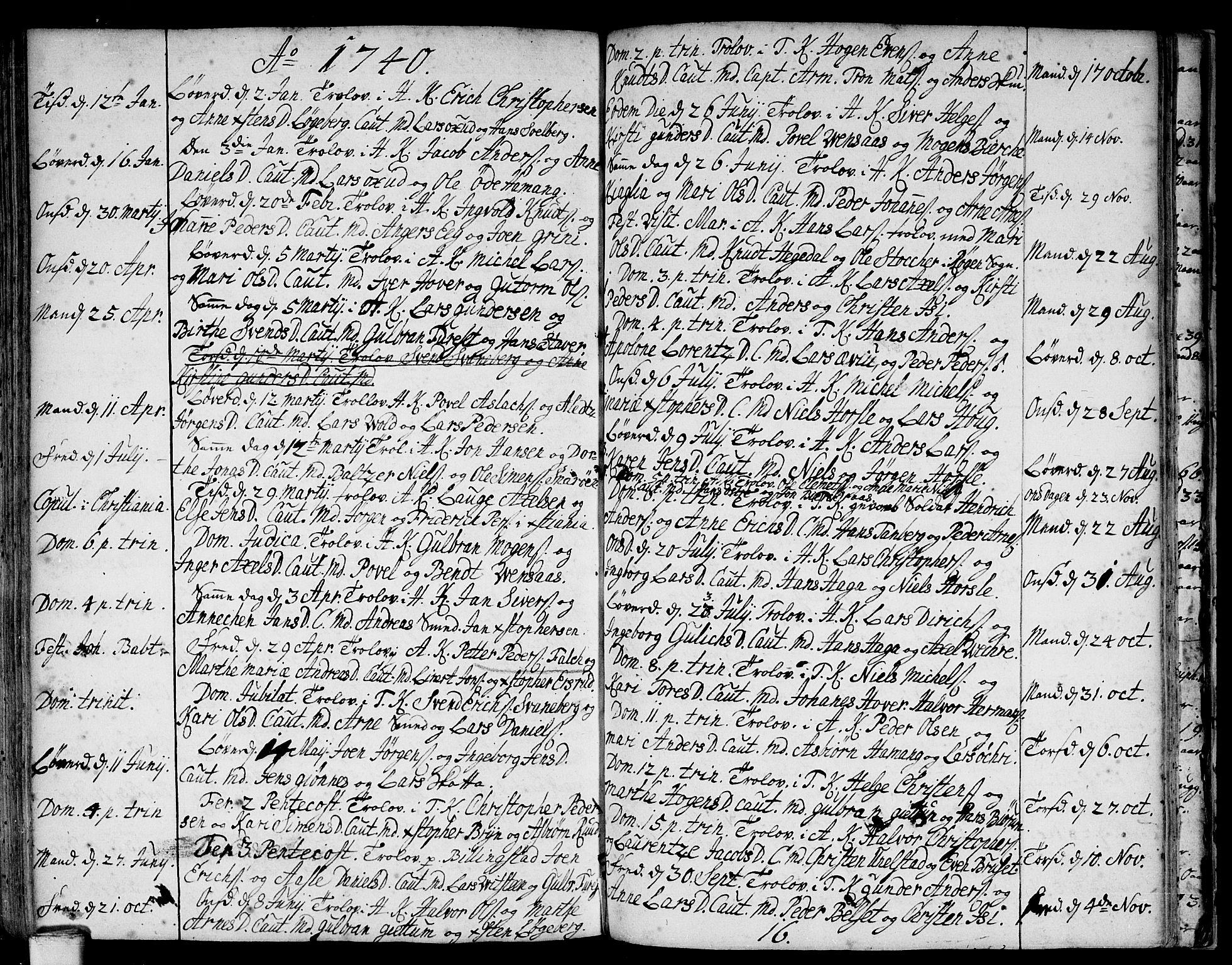 SAO, Asker prestekontor Kirkebøker, F/Fa/L0001: Ministerialbok nr. I 1, 1726-1744, s. 91