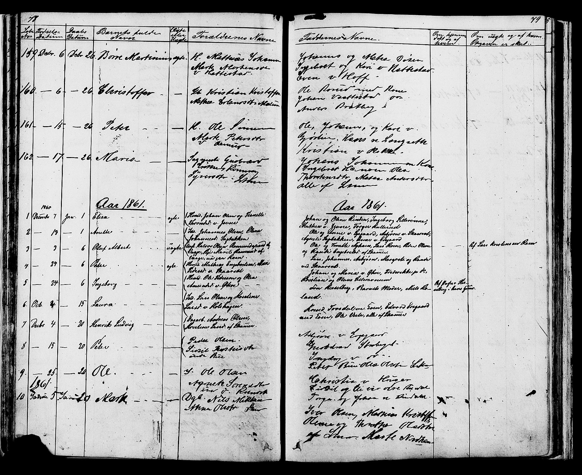 SAH, Fåberg prestekontor, Klokkerbok nr. 7, 1856-1891, s. 78-79