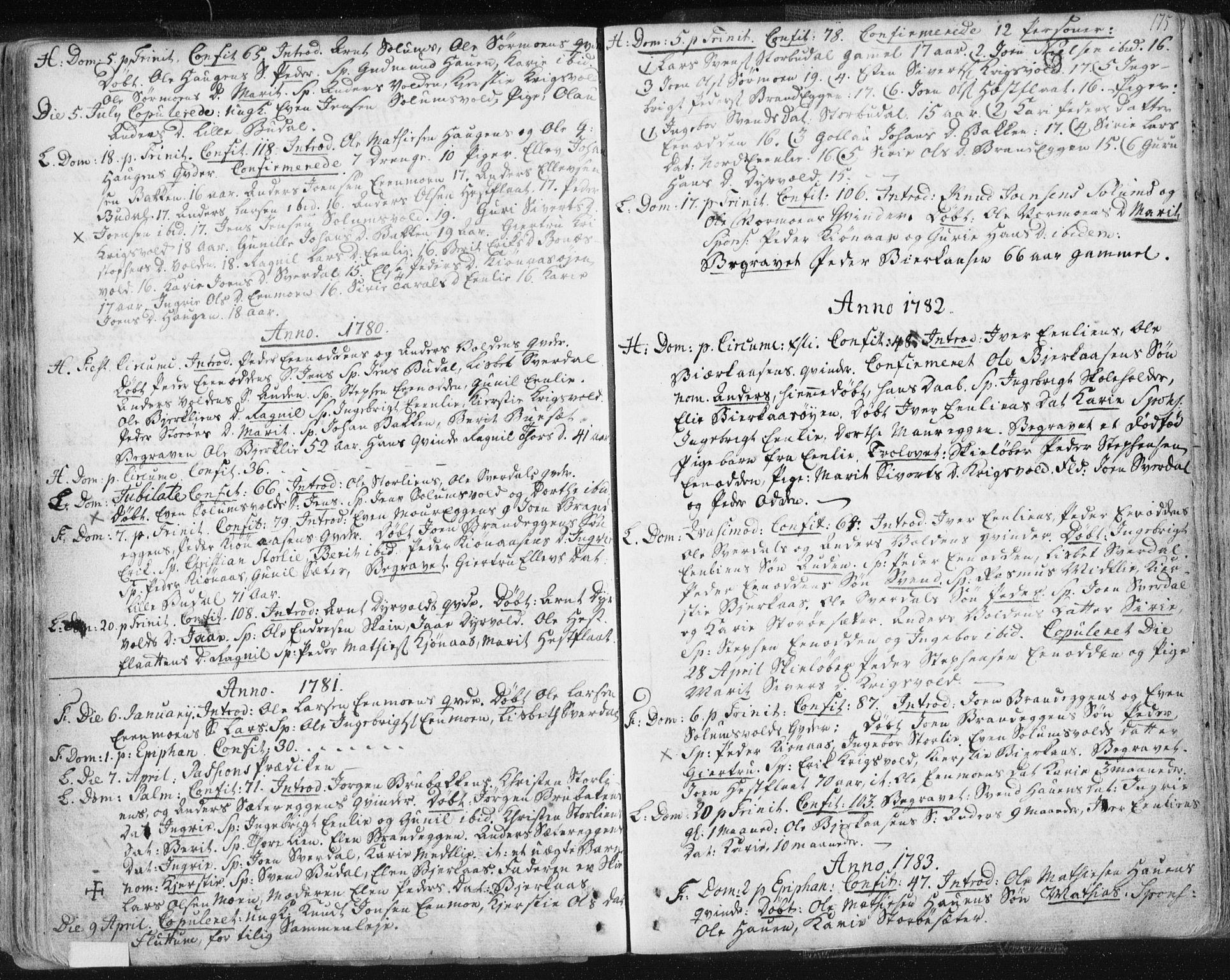 SAT, Ministerialprotokoller, klokkerbøker og fødselsregistre - Sør-Trøndelag, 687/L0991: Ministerialbok nr. 687A02, 1747-1790, s. 175