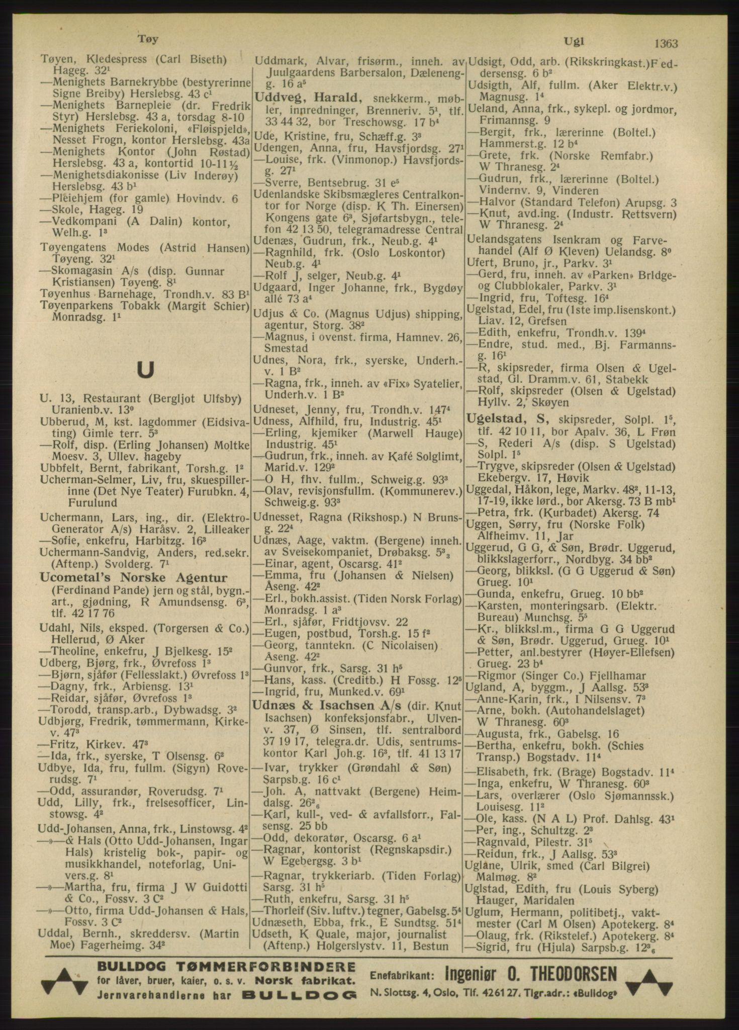 RA, Oslo adressebok (publikasjon)*, 1947, s. 1363