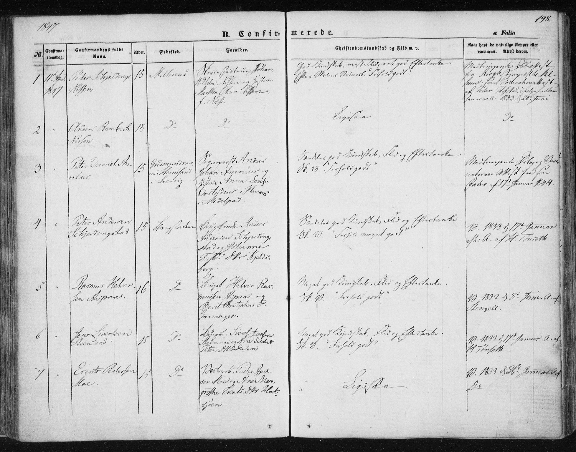 SAT, Ministerialprotokoller, klokkerbøker og fødselsregistre - Sør-Trøndelag, 681/L0931: Ministerialbok nr. 681A09, 1845-1859, s. 198