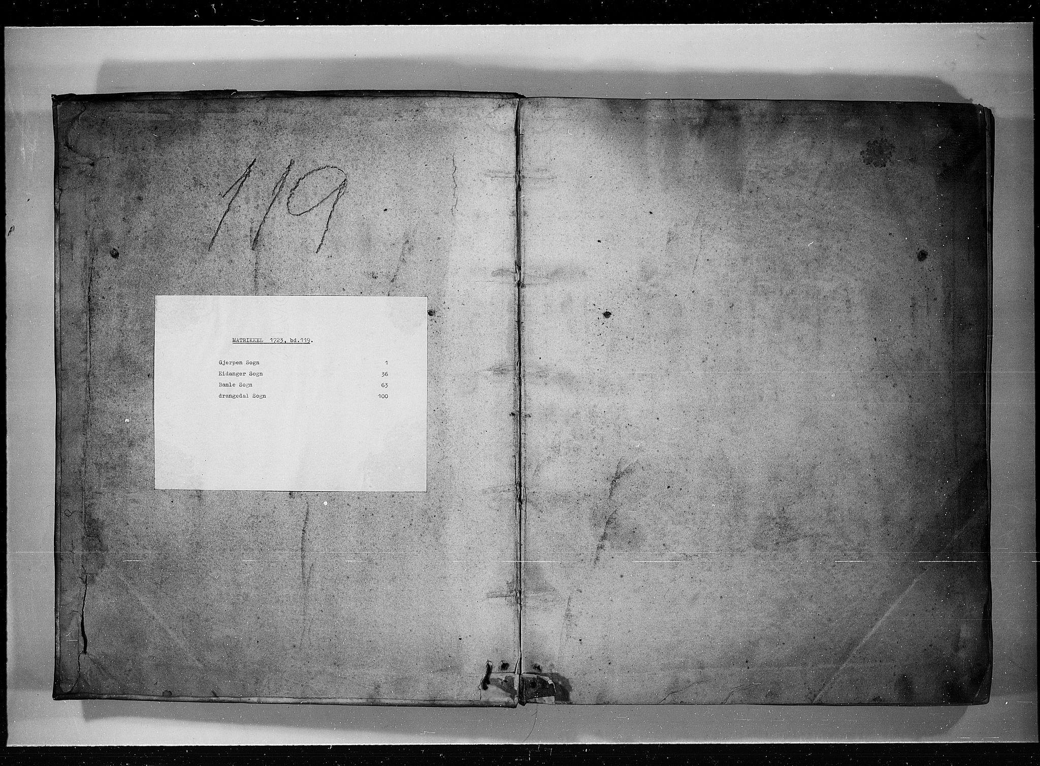 RA, Rentekammeret inntil 1814, Realistisk ordnet avdeling, N/Nb/Nbf/L0119: Bamble eksaminasjonsprotokoll, 1723, s. upaginert