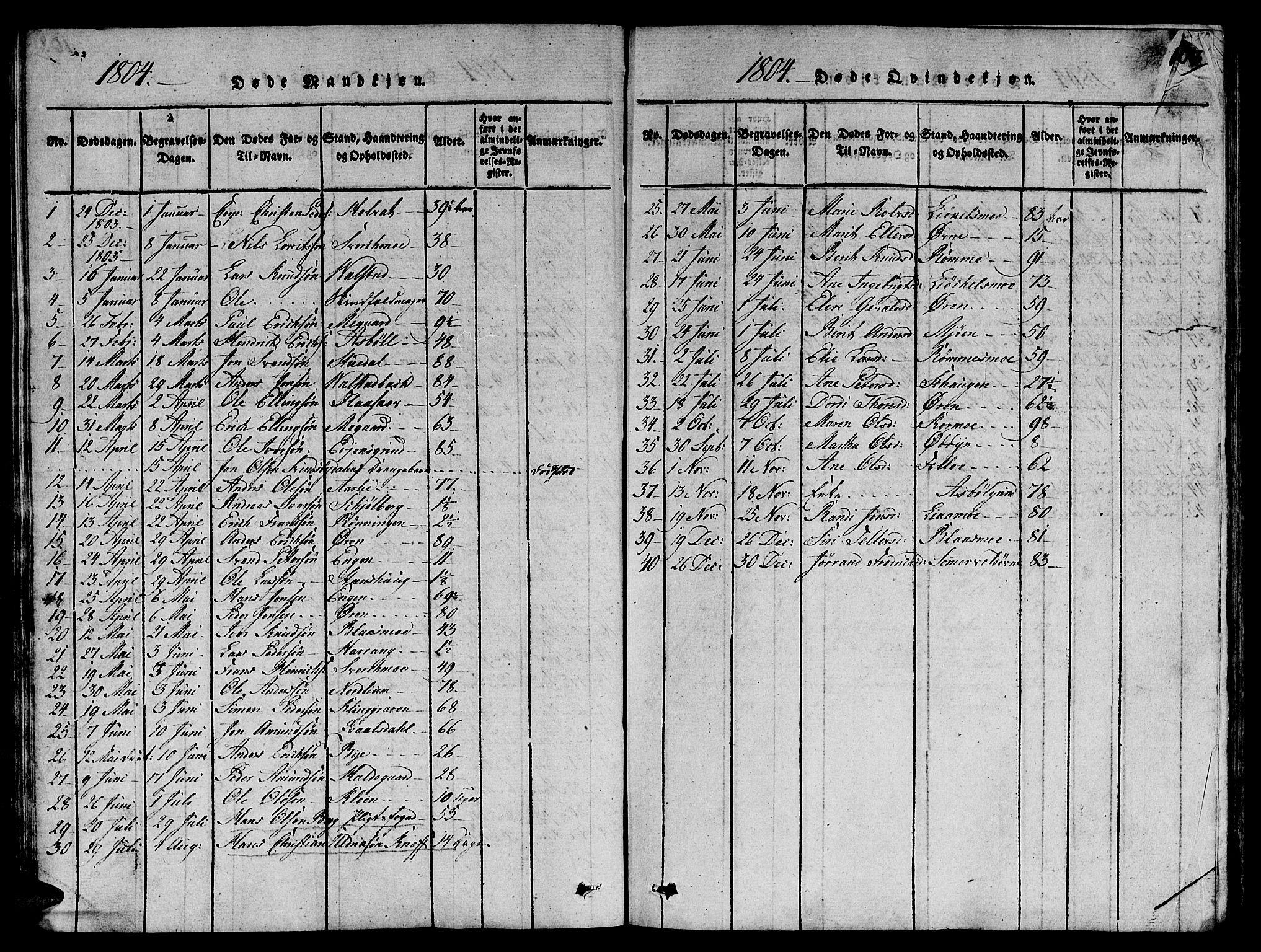 SAT, Ministerialprotokoller, klokkerbøker og fødselsregistre - Sør-Trøndelag, 668/L0803: Ministerialbok nr. 668A03, 1800-1826, s. 103