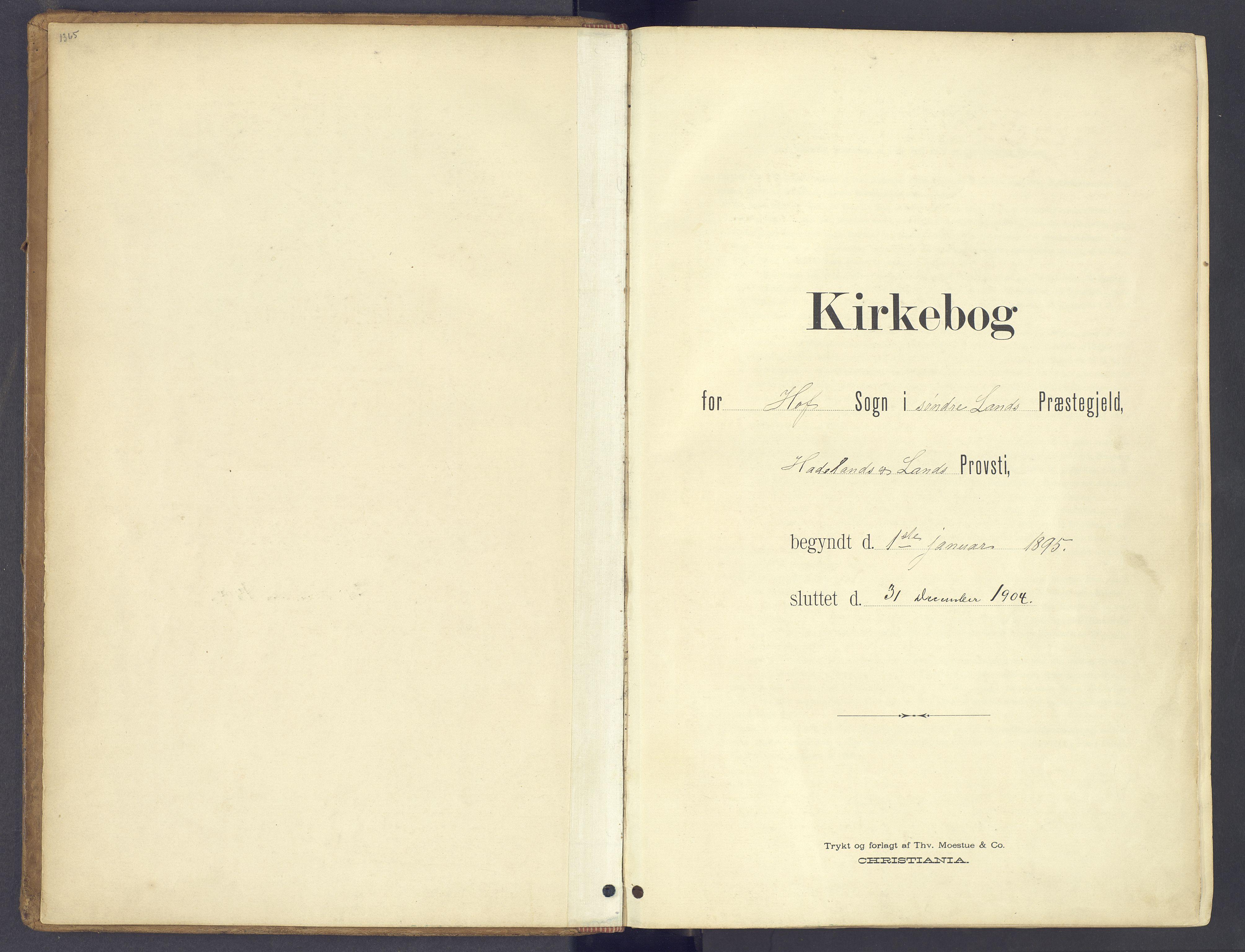 SAH, Søndre Land prestekontor, K/L0006: Ministerialbok nr. 6, 1895-1904