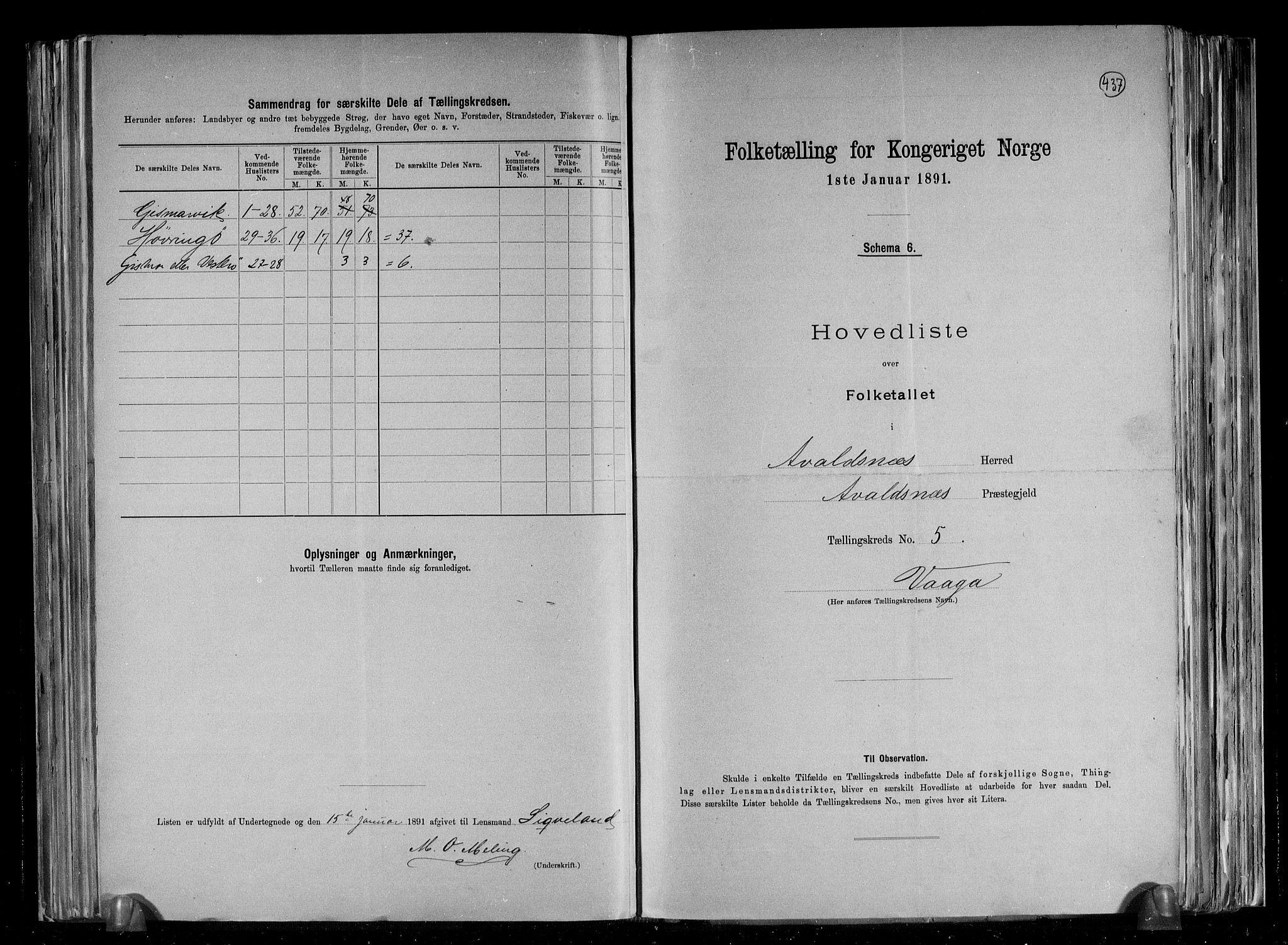 RA, Folketelling 1891 for 1147 Avaldsnes herred, 1891, s. 30