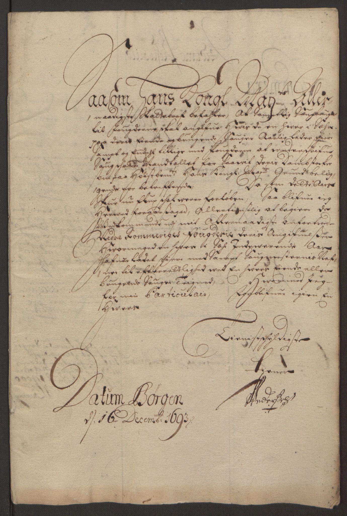 RA, Rentekammeret inntil 1814, Reviderte regnskaper, Fogderegnskap, R11/L0578: Fogderegnskap Nedre Romerike, 1693, s. 181