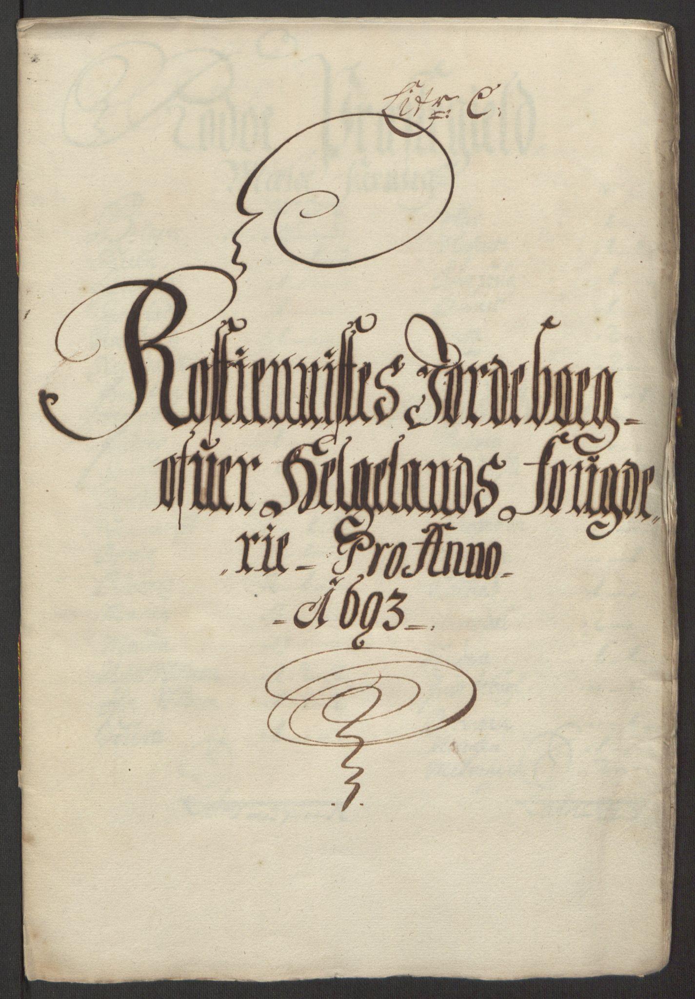 RA, Rentekammeret inntil 1814, Reviderte regnskaper, Fogderegnskap, R65/L4505: Fogderegnskap Helgeland, 1693-1696, s. 90