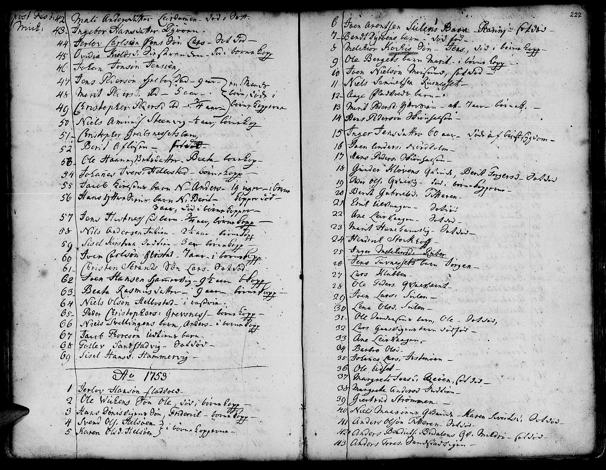 SAT, Ministerialprotokoller, klokkerbøker og fødselsregistre - Sør-Trøndelag, 634/L0525: Ministerialbok nr. 634A01, 1736-1775, s. 227