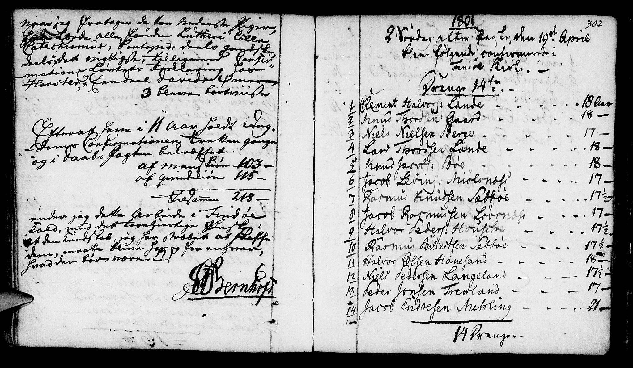 SAST, Finnøy sokneprestkontor, H/Ha/Haa/L0005: Ministerialbok nr. A 5, 1773-1816, s. 302