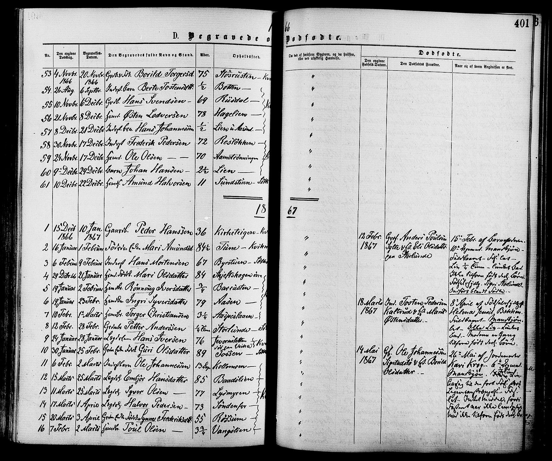 SAH, Nord-Fron prestekontor, Ministerialbok nr. 2, 1865-1883, s. 401