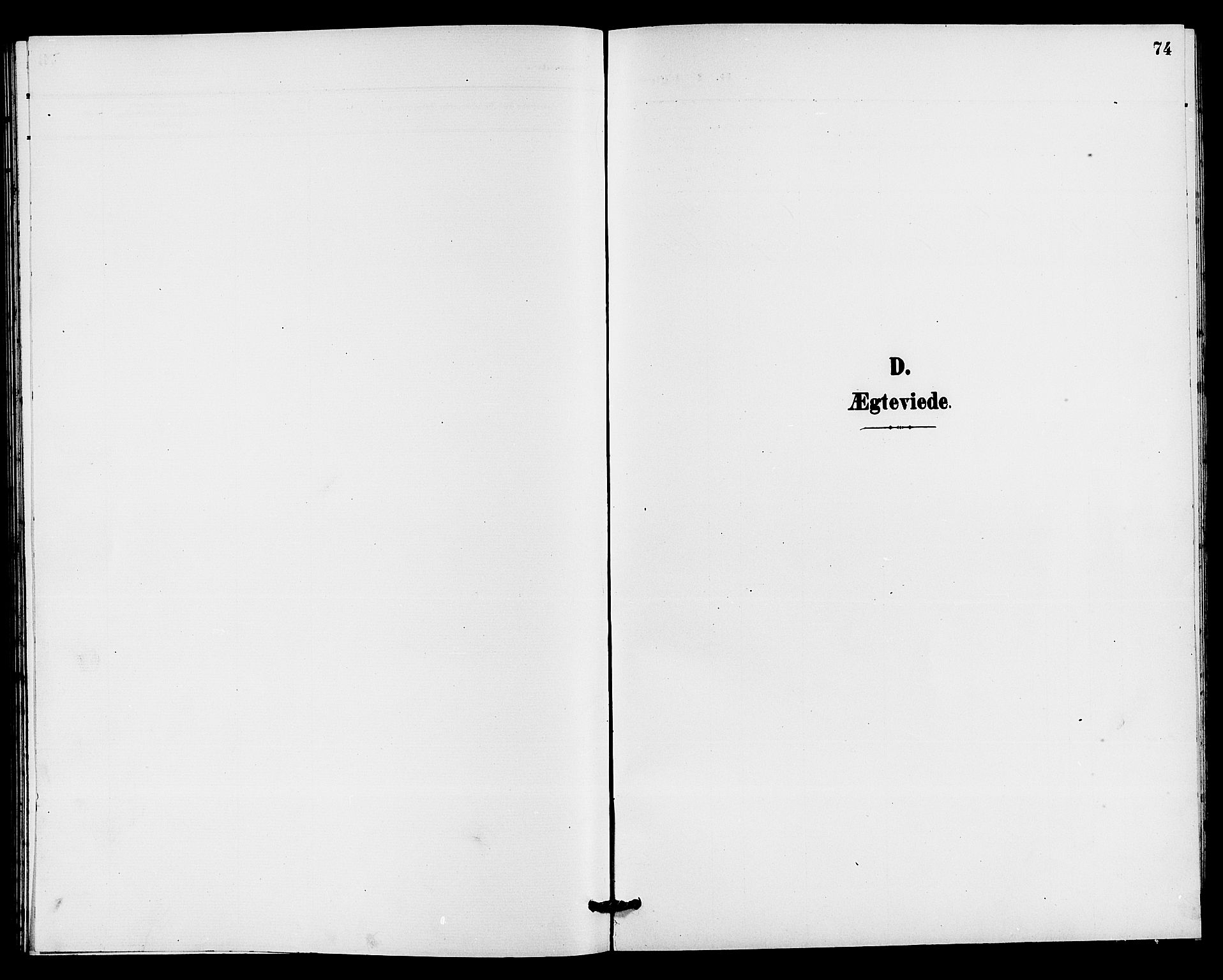 SAKO, Holla kirkebøker, G/Gb/L0002: Klokkerbok nr. II 2, 1897-1913, s. 74