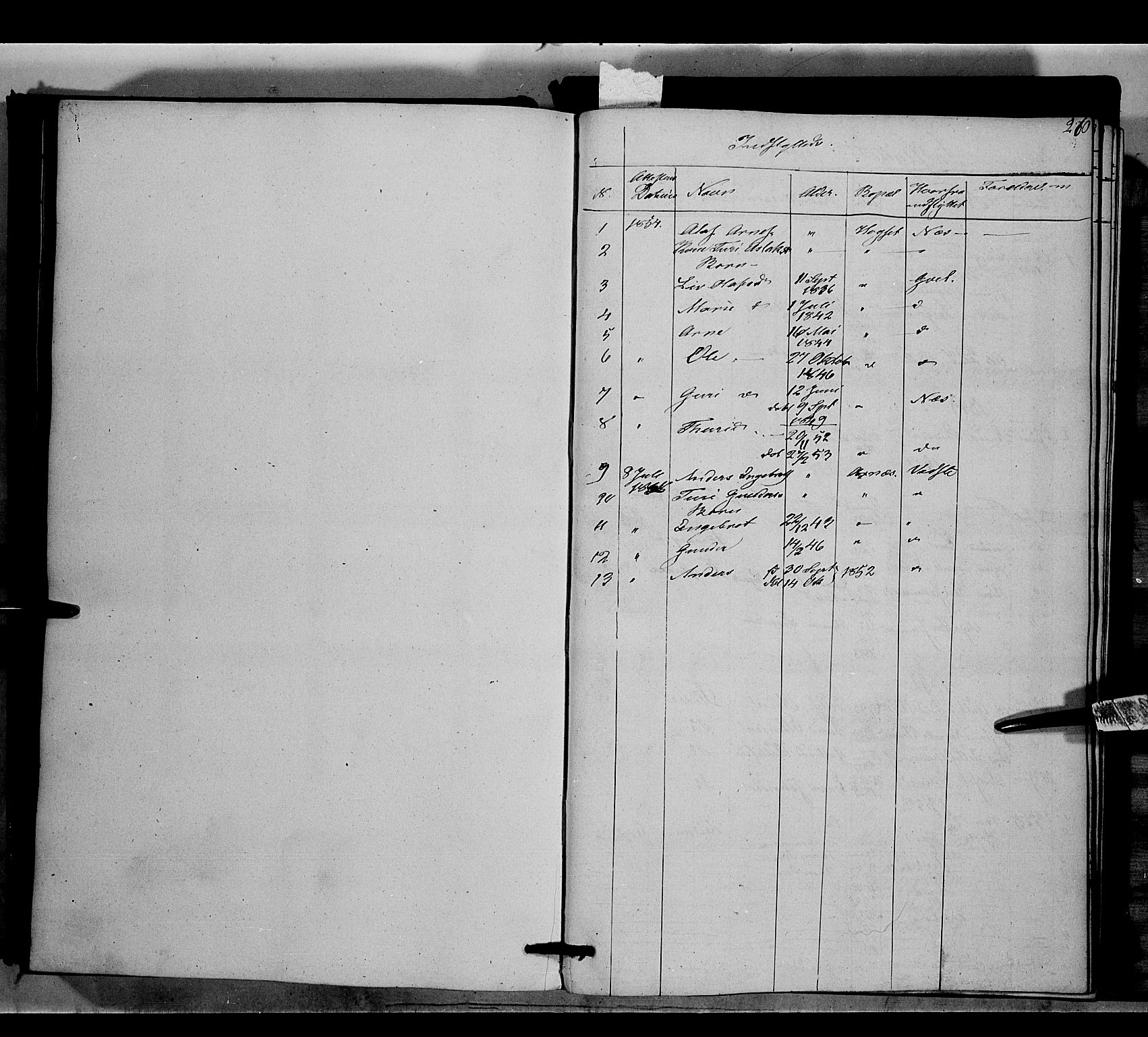SAH, Nord-Aurdal prestekontor, Ministerialbok nr. 6, 1842-1863, s. 260
