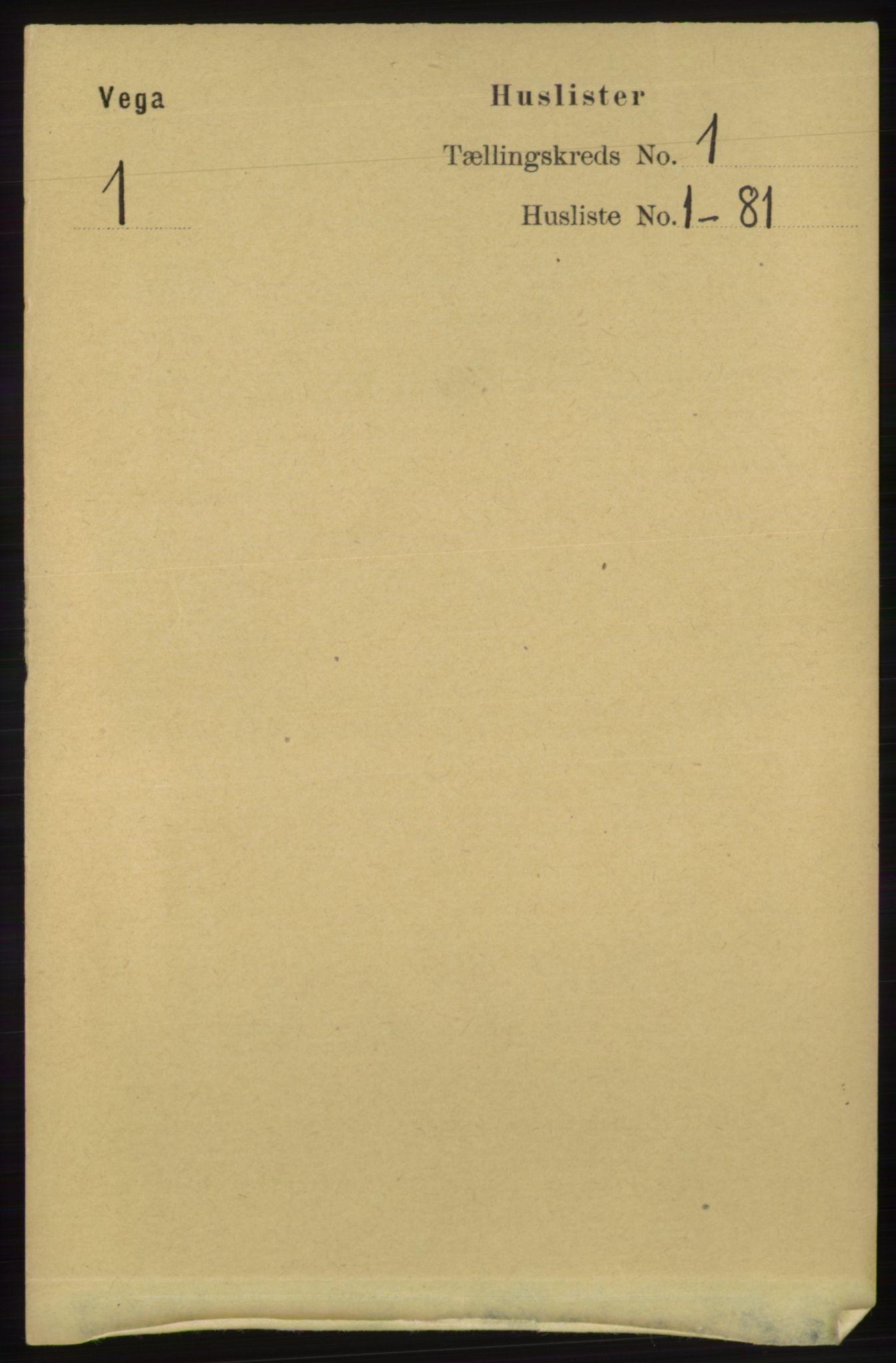 RA, Folketelling 1891 for 1815 Vega herred, 1891, s. 18