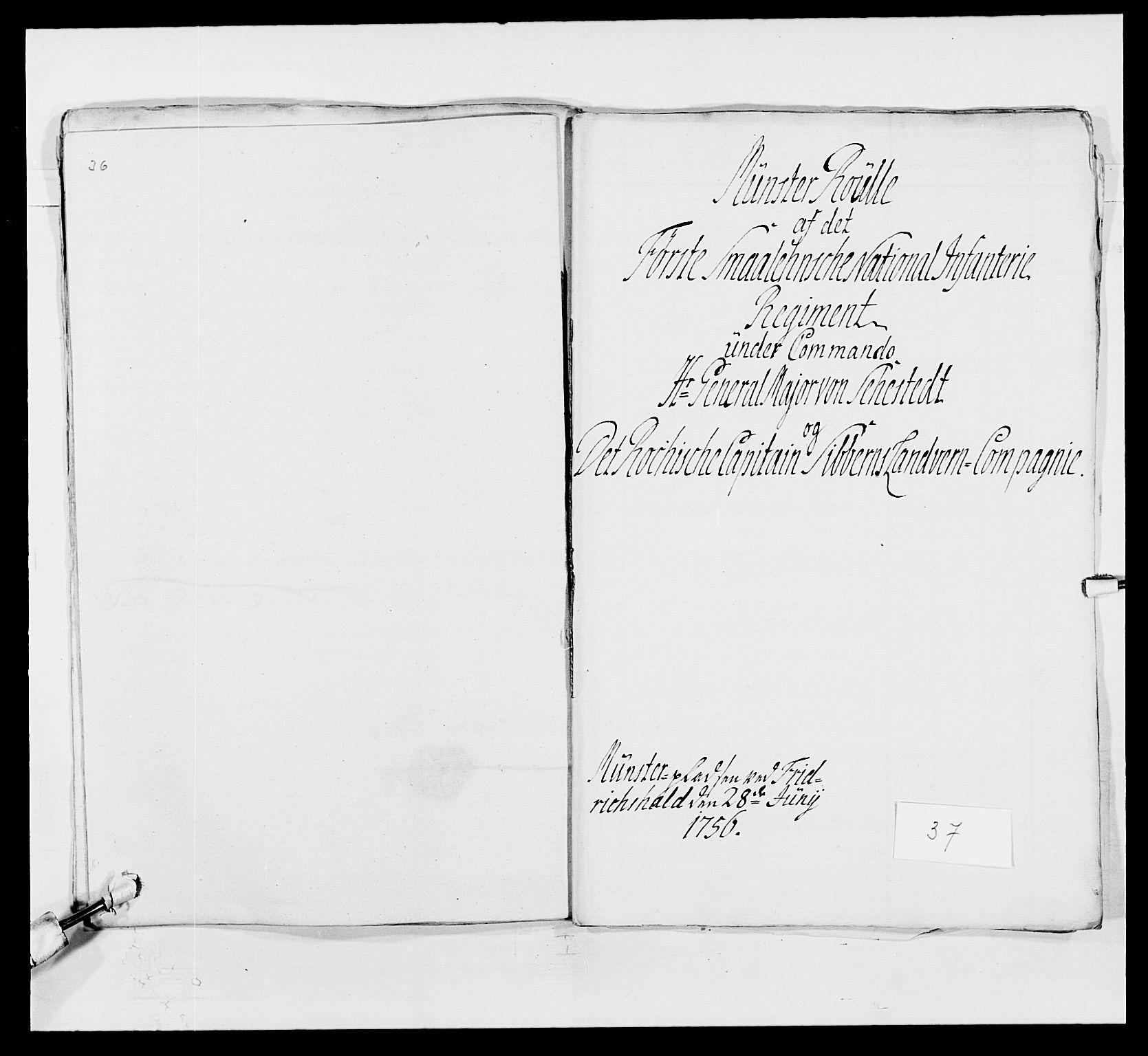 RA, Kommanderende general (KG I) med Det norske krigsdirektorium, E/Ea/L0495: 1. Smålenske regiment, 1732-1763, s. 521