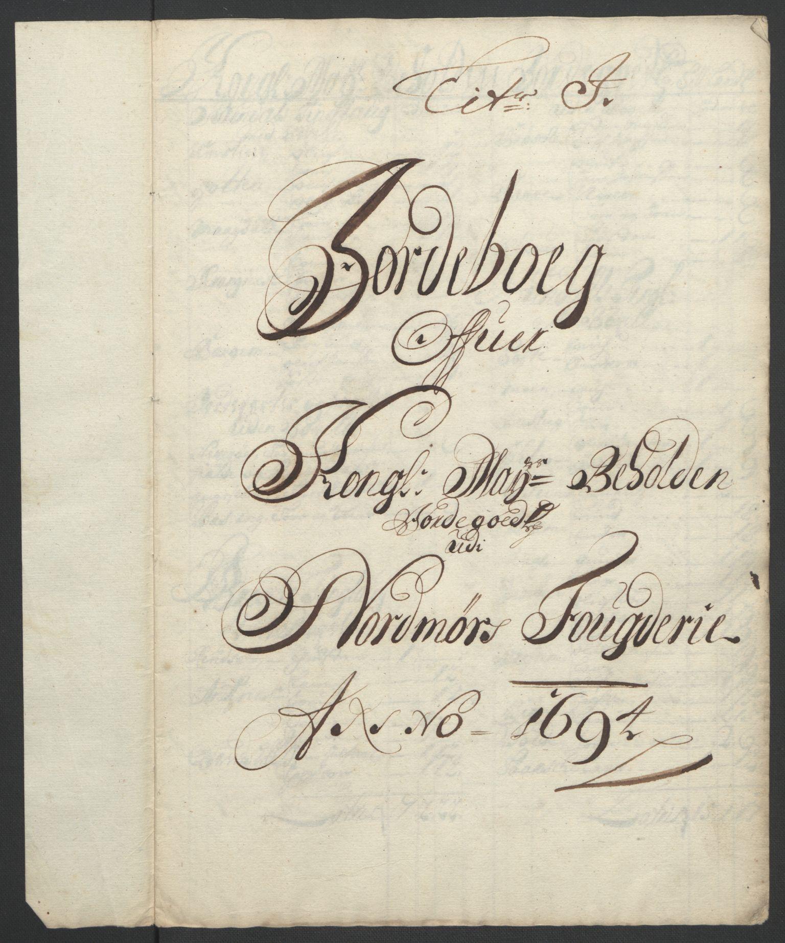 RA, Rentekammeret inntil 1814, Reviderte regnskaper, Fogderegnskap, R56/L3736: Fogderegnskap Nordmøre, 1694-1696, s. 97