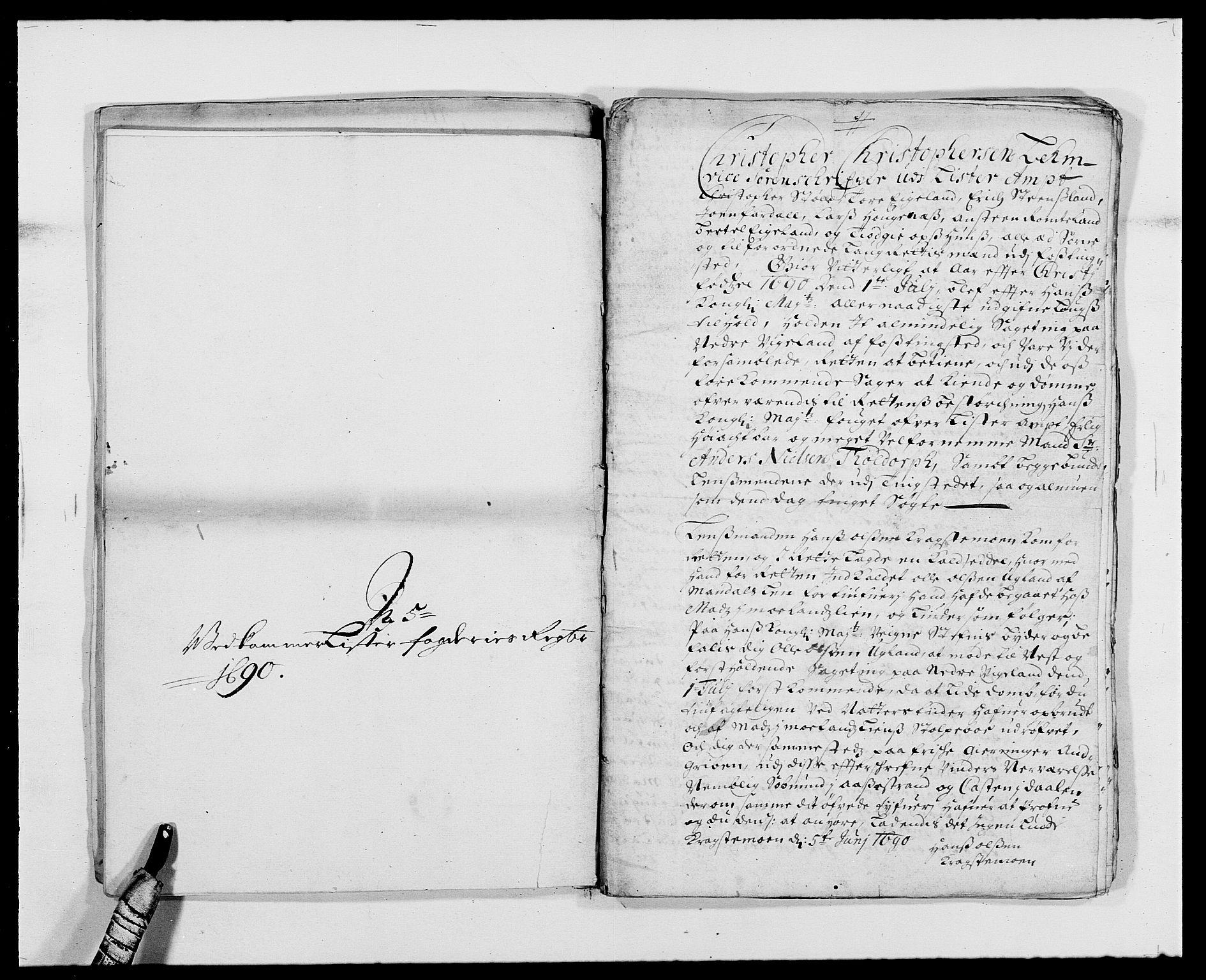 RA, Rentekammeret inntil 1814, Reviderte regnskaper, Fogderegnskap, R41/L2536: Fogderegnskap Lista, 1690-1693, s. 99