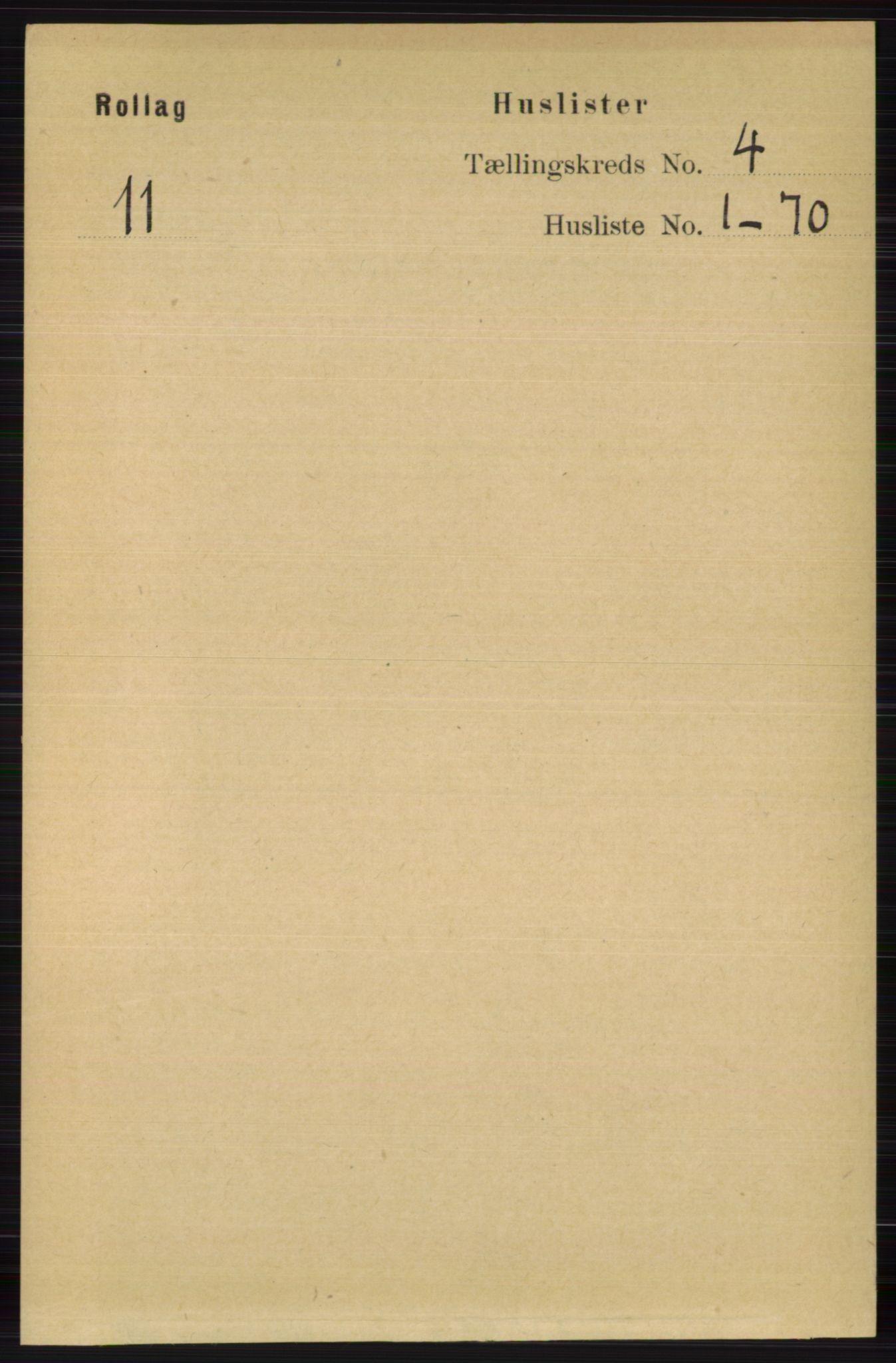 RA, Folketelling 1891 for 0632 Rollag herred, 1891, s. 1209