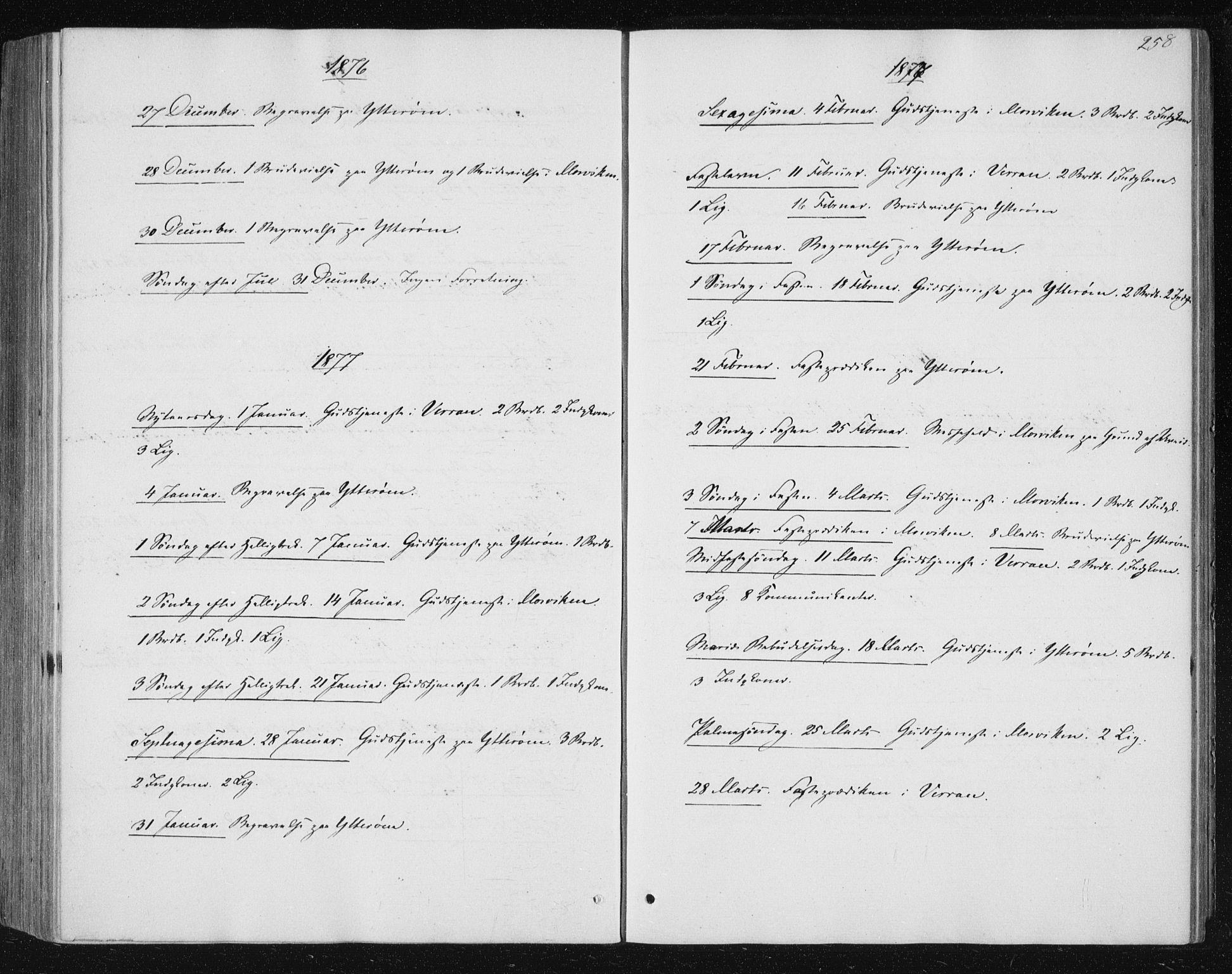 SAT, Ministerialprotokoller, klokkerbøker og fødselsregistre - Nord-Trøndelag, 722/L0219: Ministerialbok nr. 722A06, 1868-1880, s. 258