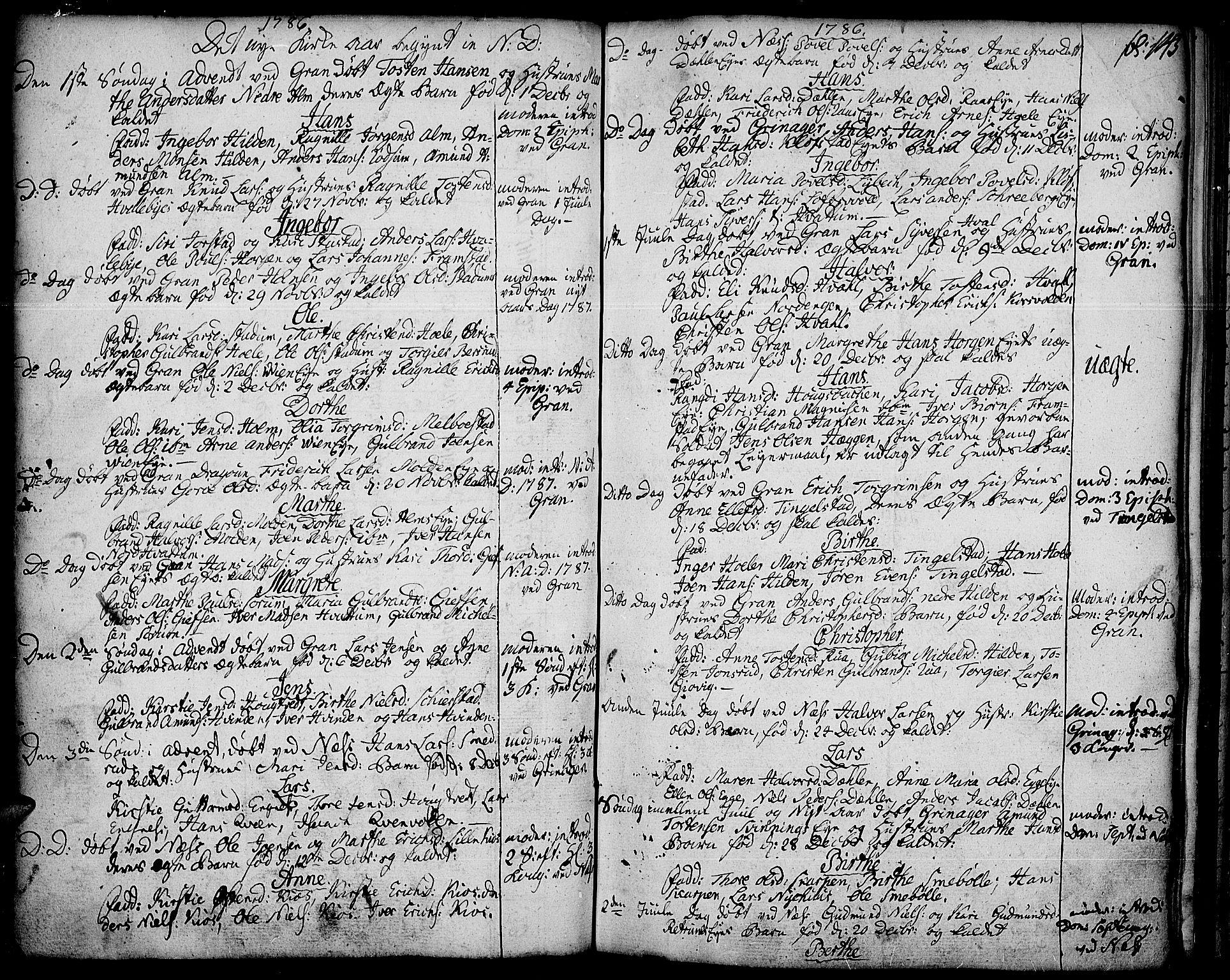 SAH, Gran prestekontor, Ministerialbok nr. 5, 1776-1788, s. 145