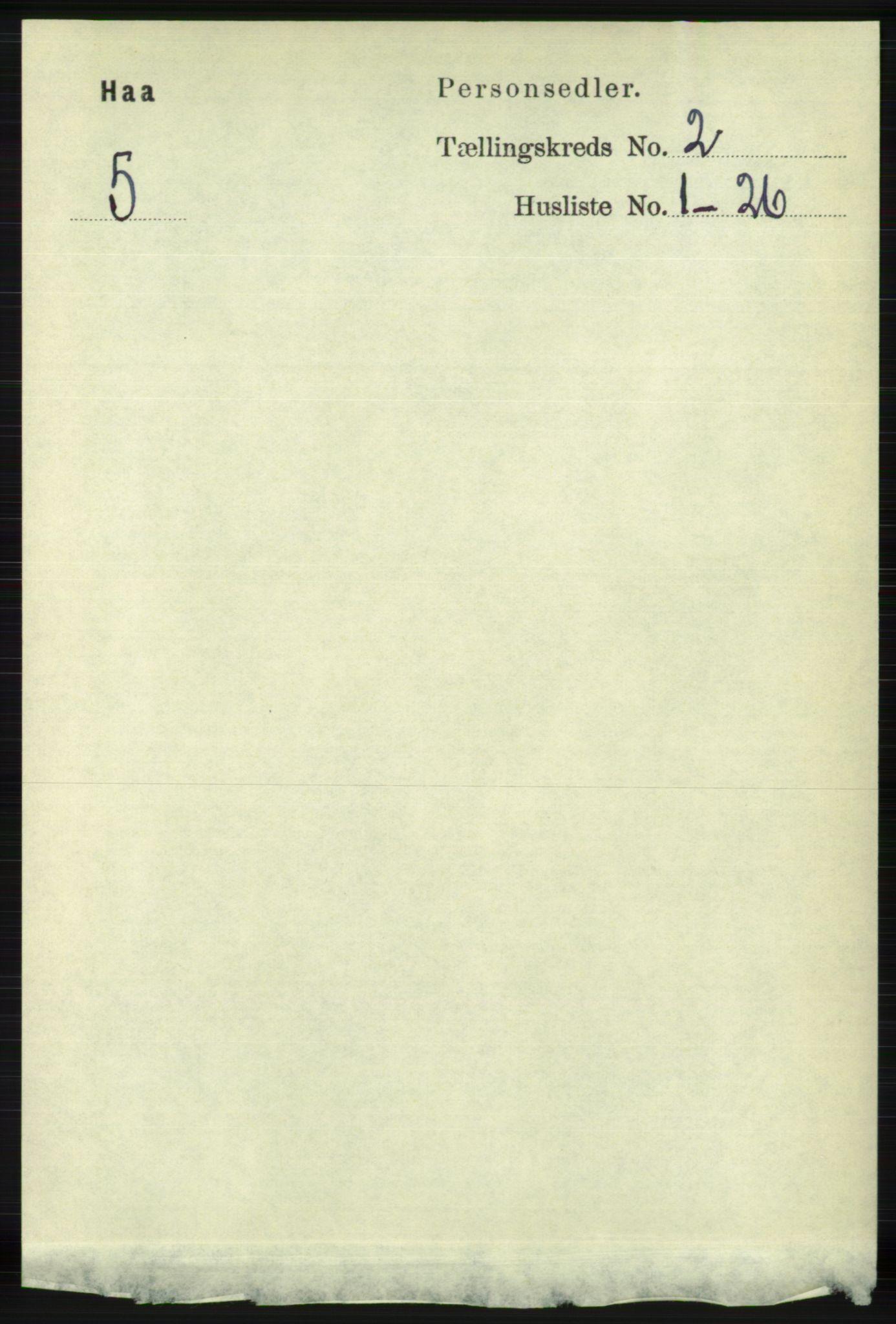 RA, Folketelling 1891 for 1119 Hå herred, 1891, s. 372