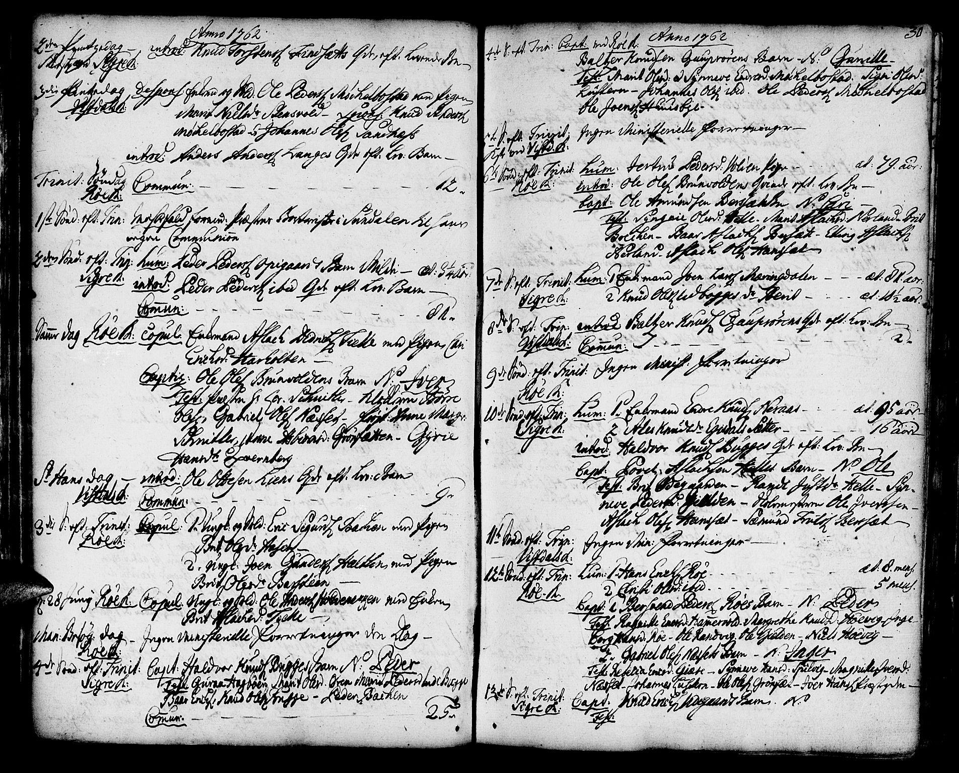 SAT, Ministerialprotokoller, klokkerbøker og fødselsregistre - Møre og Romsdal, 551/L0621: Ministerialbok nr. 551A01, 1757-1803, s. 30