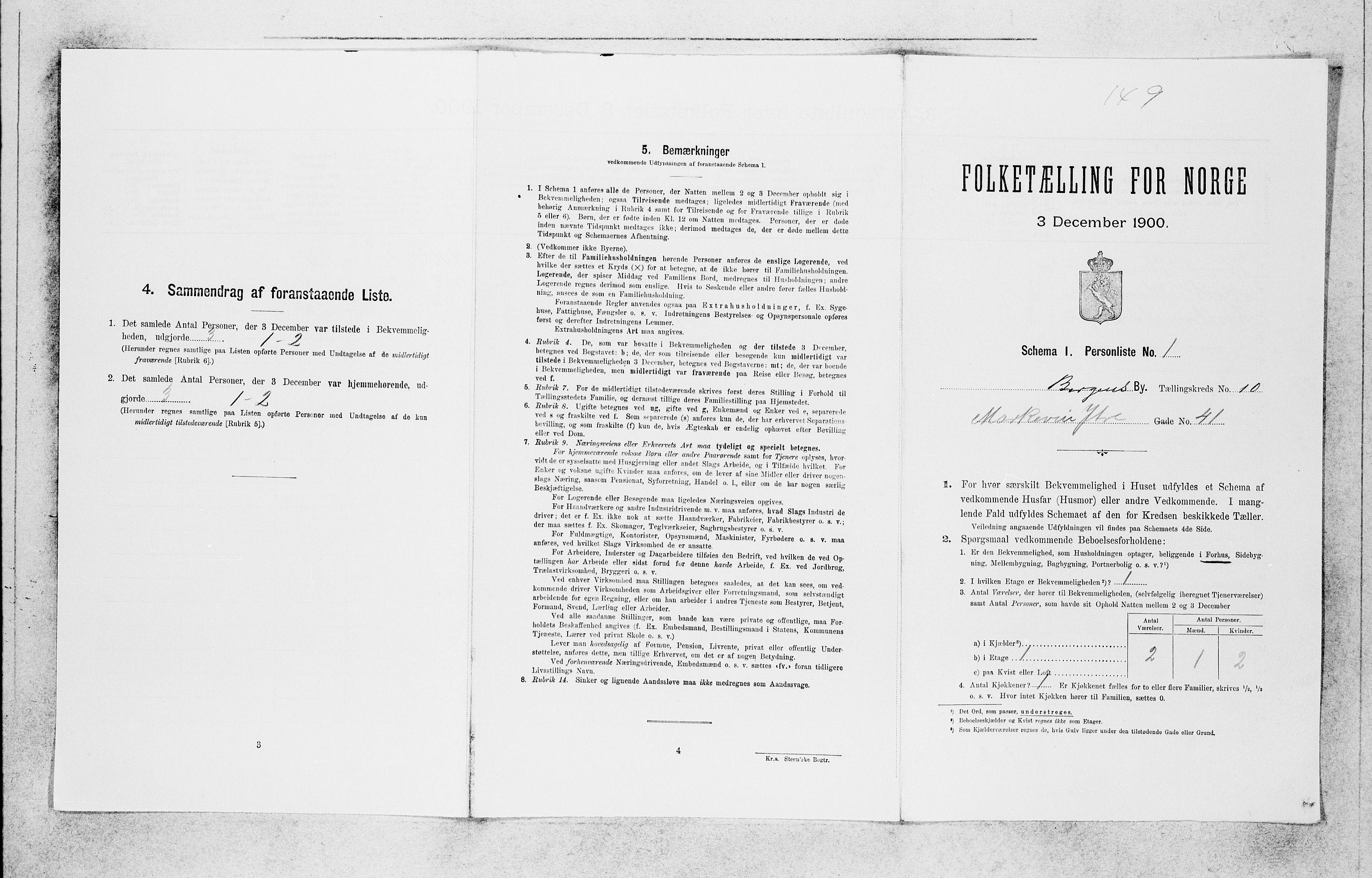 SAB, Folketelling 1900 for 1301 Bergen kjøpstad, 1900, s. 1839