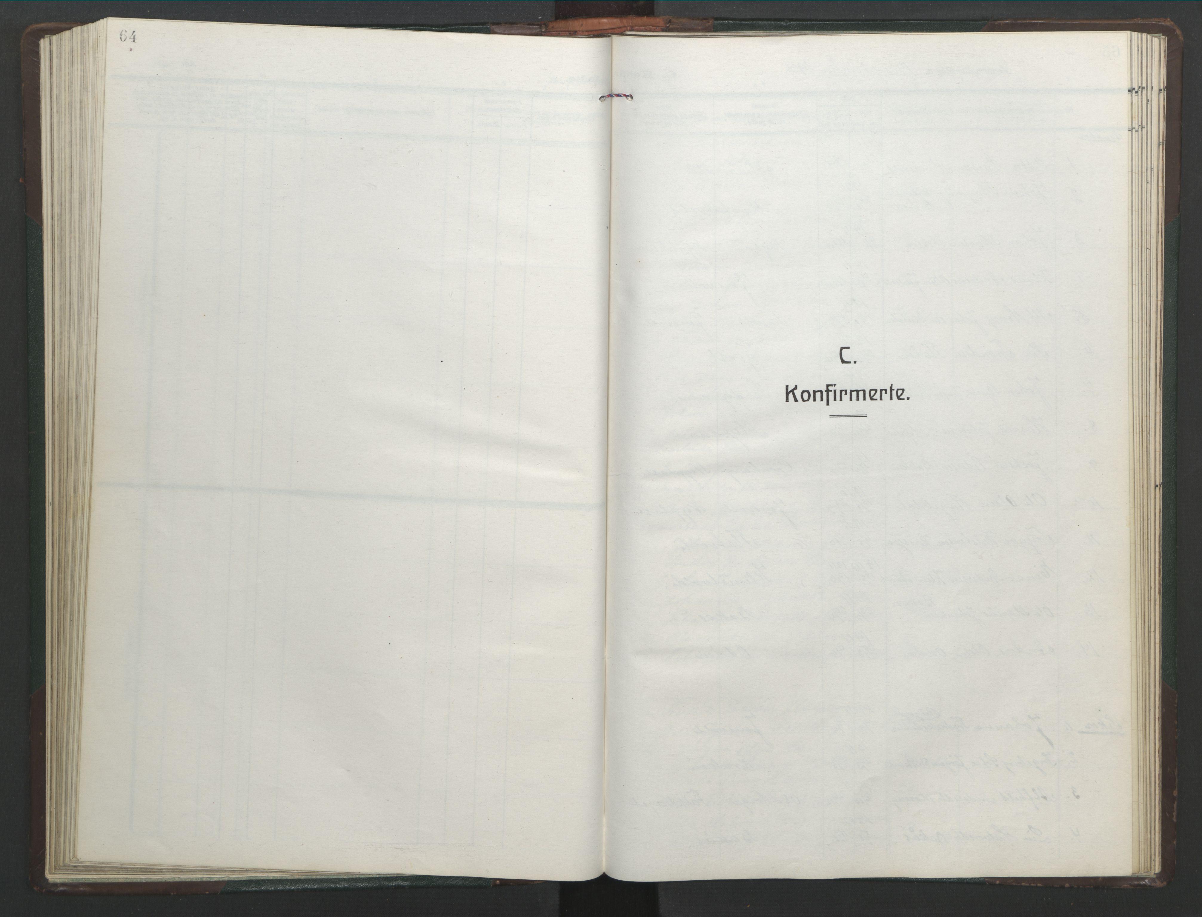 SAT, Ministerialprotokoller, klokkerbøker og fødselsregistre - Sør-Trøndelag, 682/L0947: Klokkerbok nr. 682C01, 1926-1968, s. 64