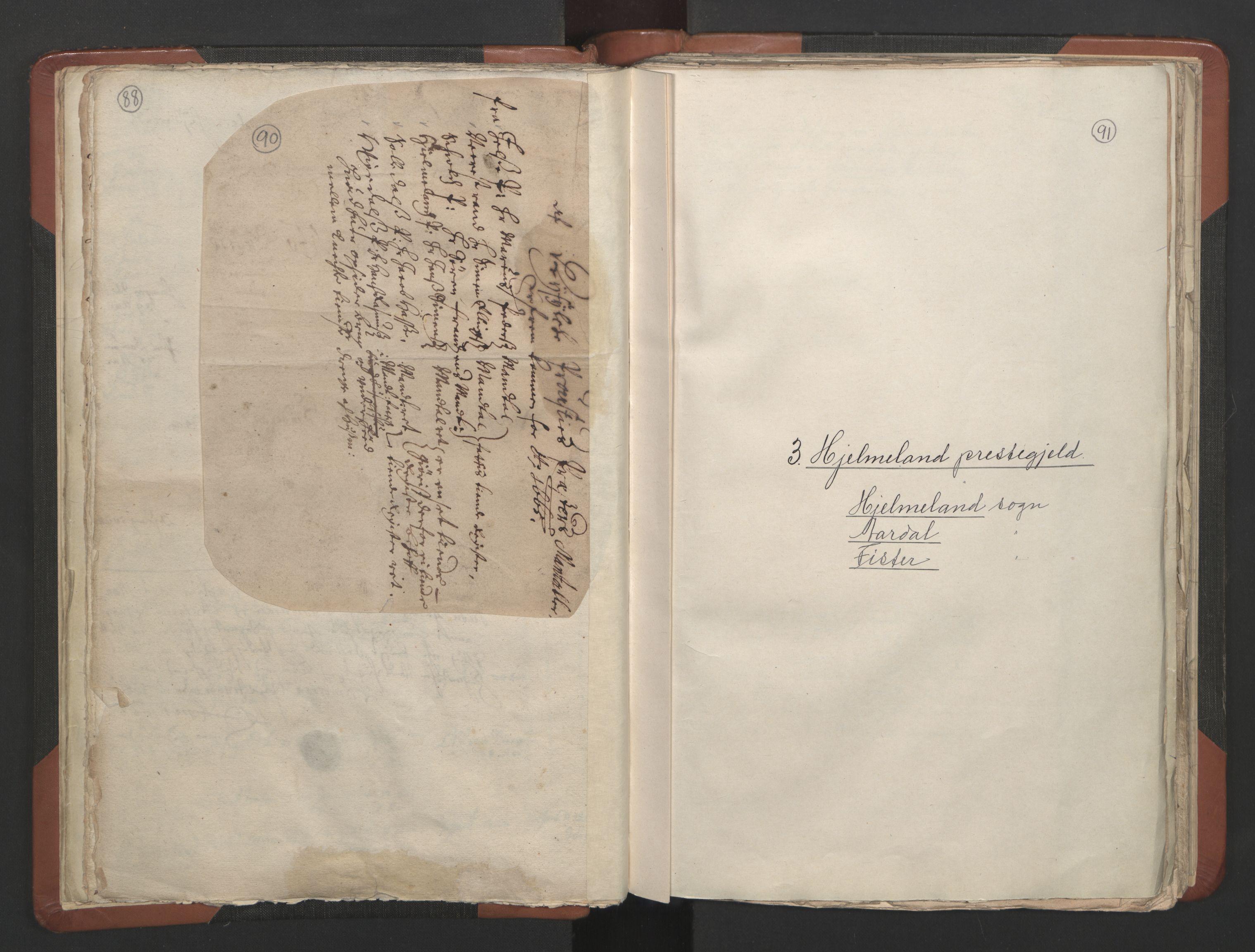 RA, Sogneprestenes manntall 1664-1666, nr. 19: Ryfylke prosti, 1664-1666, s. 90-91
