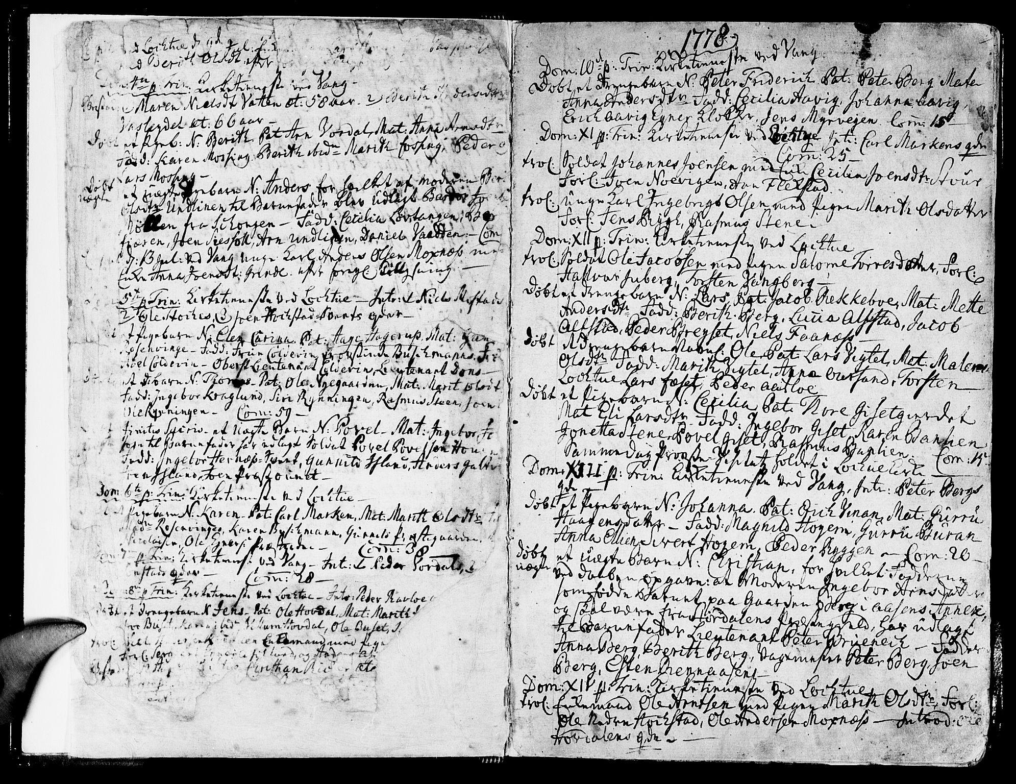 SAT, Ministerialprotokoller, klokkerbøker og fødselsregistre - Nord-Trøndelag, 713/L0110: Ministerialbok nr. 713A02, 1778-1811, s. 0-1