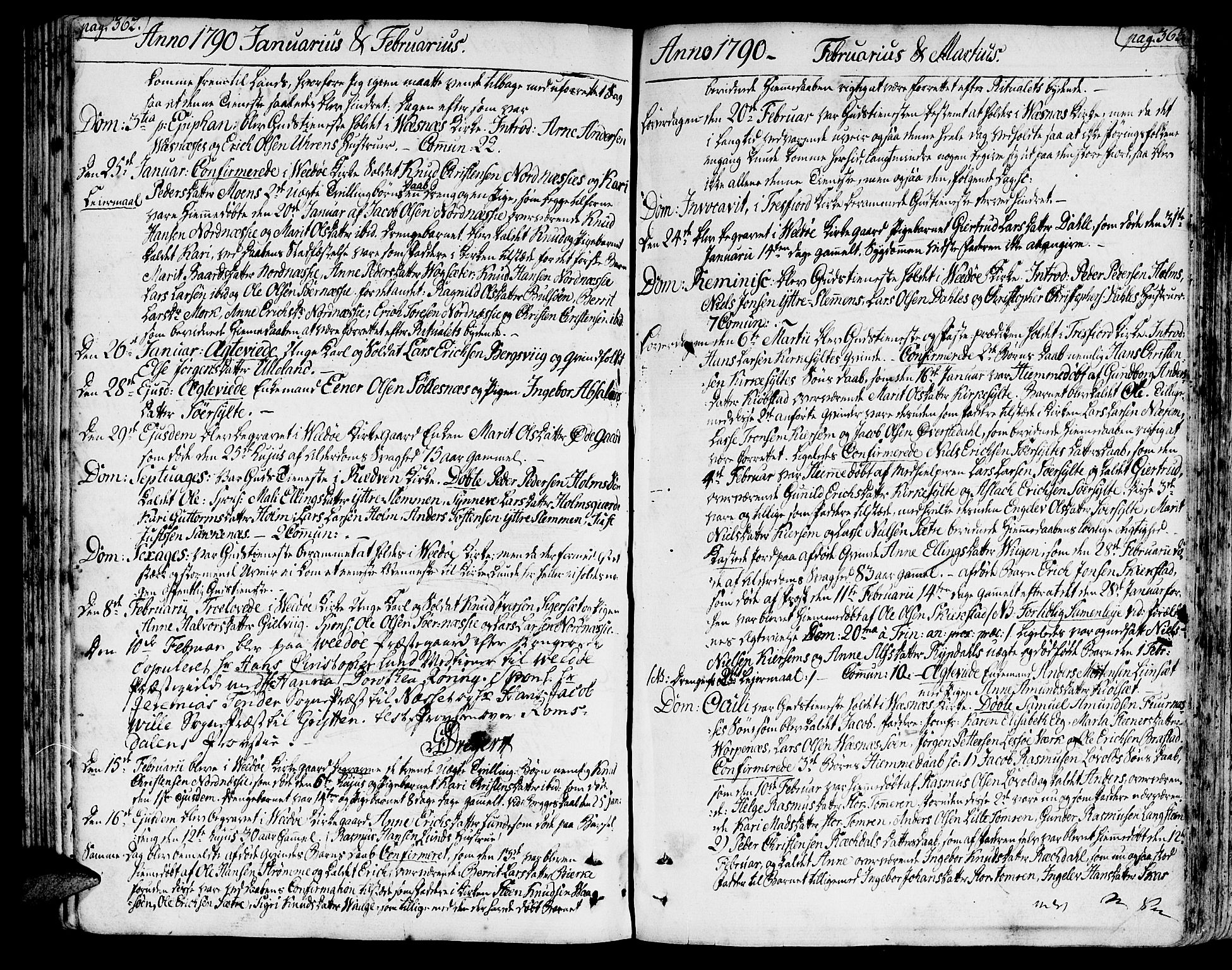 SAT, Ministerialprotokoller, klokkerbøker og fødselsregistre - Møre og Romsdal, 547/L0600: Ministerialbok nr. 547A02, 1765-1799, s. 362-363