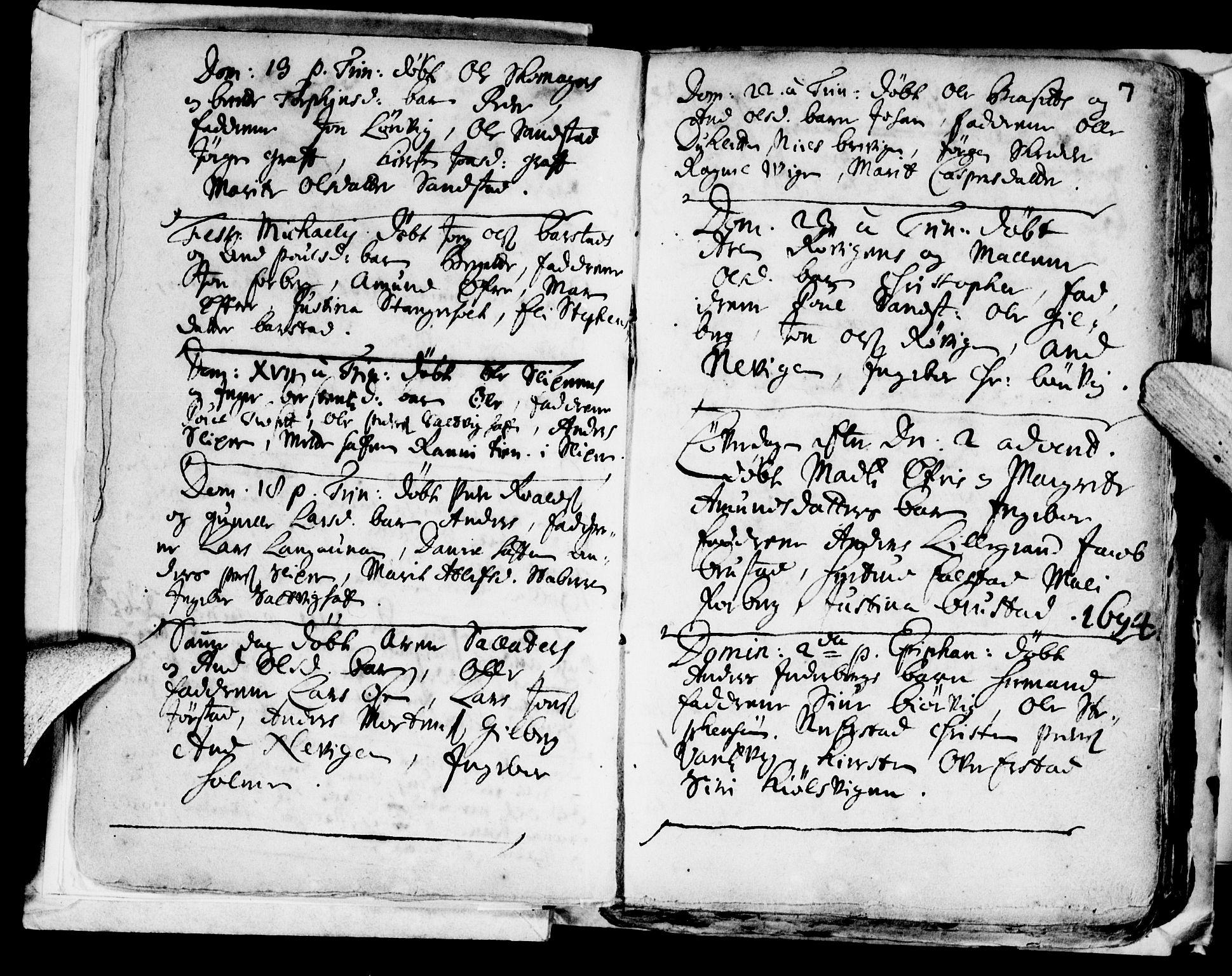 SAT, Ministerialprotokoller, klokkerbøker og fødselsregistre - Nord-Trøndelag, 722/L0214: Ministerialbok nr. 722A01, 1692-1718, s. 7