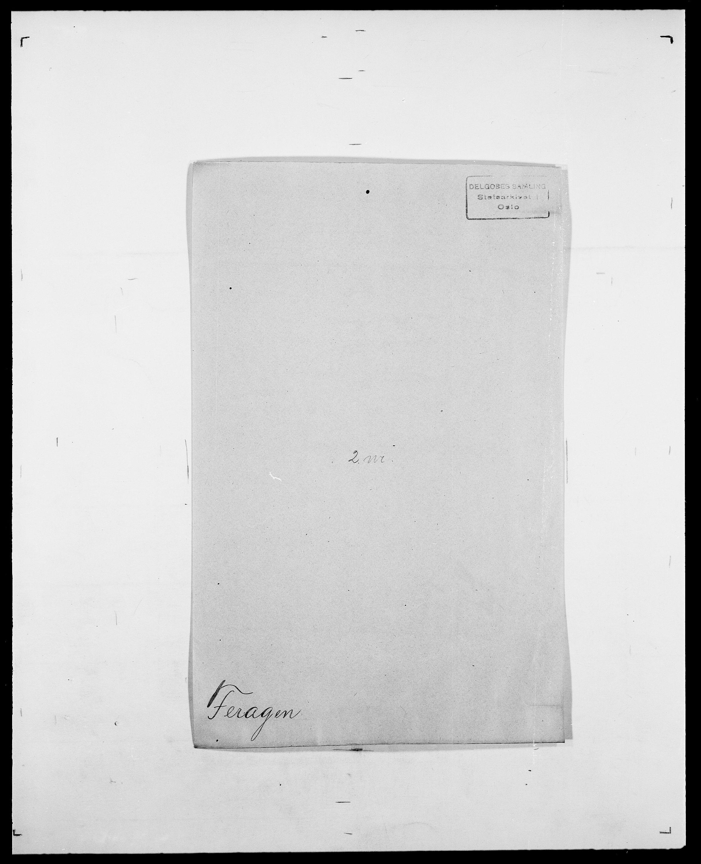SAO, Delgobe, Charles Antoine - samling, D/Da/L0011: Fahlander - Flood, Flod, s. 362