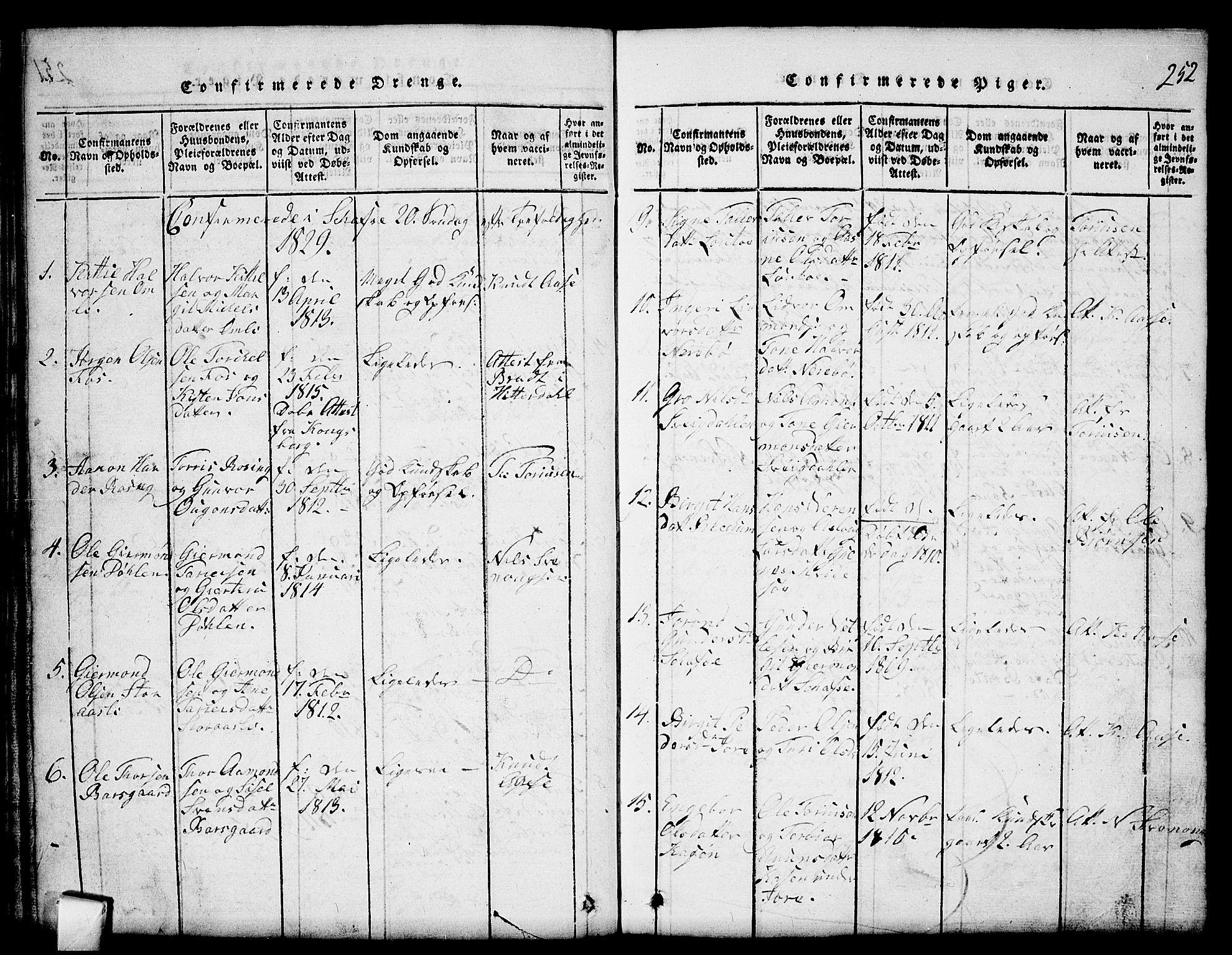 SAKO, Mo kirkebøker, G/Gb/L0001: Klokkerbok nr. II 1, 1814-1843, s. 252